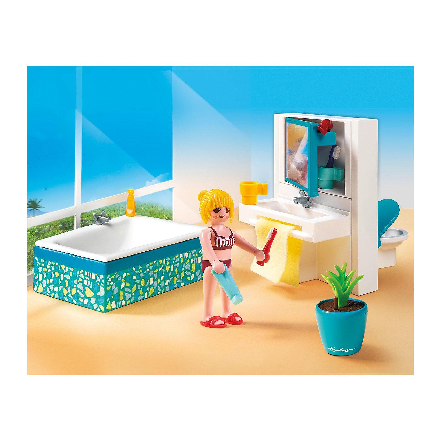 PLAYMOBIL 5577 Особняки: Современная ванная комнатаПластмассовые конструкторы<br>Конструктор PLAYMOBIL (Плеймобил) 5577 Особняки: Современная ванная комната - прекрасная возможность для ребенка проявить свой творческий потенциал! Полезный конструктор для развития Вашего ребенка должен быть именно таким: красочным, безопасным и очень функциональным. Набор Современная ванная комната состоит из одной минифигурки и множества замечательных и стильных предметов интерьера и аксессуаров. Здесь можно расчесаться, посмотреться в зеркало и конечно же поплескаться в ванной! Ребенку понравится расставлять мебель и аксессуары на полках и разыгрывать интересные сценки из жизни. Конструктор Современная ванная комната просто находка для обладателя кукольного домика, ведь мебелью можно обставить одну из его комнат. Расставляя мебель и убирая аксессуары на полку ребенок будет учиться аккуратности и Вы не заметите, как малыш начнет наводить порядок в своей собственной комнате. Прививайте ребенку хороший вкус с помощью конструктора PLAYMOBIL (Плеймобил) 5577 Особняки: Современная ванная комната!<br><br>Дополнительная информация:<br><br>- Конструкторы PLAYMOBIL (Плеймобил) отлично развивают мелкую моторику, фантазию и воображение;<br>- В наборе: 1 минифигурка, ванная, зеркало, унитаз, туалетные принадлежности;<br>- Количество деталей: 38 шт;<br>- Можно использовать для кукольного домика;<br>- Материал: безопасный пластик;<br>- Размер минифигурки: 7,5 см;<br>- Размер упаковки: 25 х 20 х 5 см;<br>- Вес: 222 г<br><br>Конструктор PLAYMOBIL (Плеймобил) 5577 Особняки: Современная ванная комната можно купить в нашем интернет-магазине.<br><br>Ширина мм: 254<br>Глубина мм: 200<br>Высота мм: 58<br>Вес г: 219<br>Возраст от месяцев: 48<br>Возраст до месяцев: 120<br>Пол: Женский<br>Возраст: Детский<br>SKU: 3536870