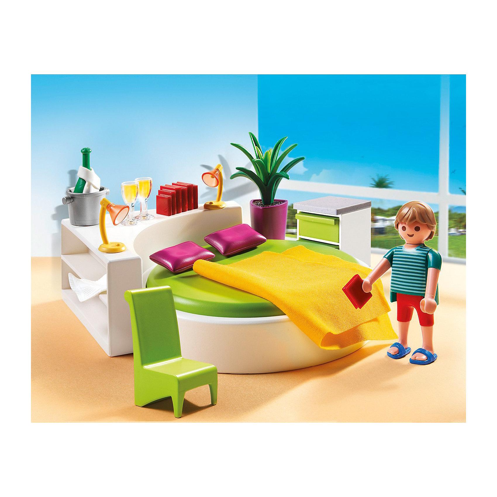 PLAYMOBIL 5583 Особняки: Современная спальняПластмассовые конструкторы<br>Конструктор PLAYMOBIL (Плеймобил) 5583 Особняки: Современная спальня - прекрасная возможность для ребенка проявить свой творческий потенциал! Полезный конструктор для развития Вашего ребенка должен быть именно таким: красочным, безопасным и очень функциональным. Набор Современная спальня состоит из одной минифигурки и множества замечательных и стильных предметов интерьера и аксессуаров. Ребенку понравится расставлять мебель и украшения на полках и разыгрывать интересные сценки из жизни. Конструктор Современная спальня просто находка для обладателя кукольного домика, ведь мебелью можно обставить одну из его комнат. Расставляя мебель и подбирая аксессуары ребенок будет учиться аккуратности и Вы не заметите, как малыш начнет наводить порядок в своей собственной комнате. Прививайте ребенку хороший вкус с помощью конструктора PLAYMOBIL (Плеймобил) 5583 Особняки: Современная спальня!<br><br>Дополнительная информация:<br><br>- Конструкторы PLAYMOBIL (Плеймобил) отлично развивают мелкую моторику, фантазию и воображение;<br>- В наборе: 1 минифигурка, аксессуары и предметы интерьера;<br>- Количество деталей: 34 шт;<br>- Можно использовать для кукольного домика;<br>- Материал: безопасный пластик;<br>- Размер минифигурки: 7,5 см;<br>- Размер упаковки: 43,5 х 21 х 26 см;<br>- Вес: 222 г<br><br>Конструктор PLAYMOBIL (Плеймобил) 5583 Особняки: Современная спальня можно купить в нашем интернет-магазине.<br><br>Ширина мм: 252<br>Глубина мм: 202<br>Высота мм: 56<br>Вес г: 217<br>Возраст от месяцев: 48<br>Возраст до месяцев: 120<br>Пол: Женский<br>Возраст: Детский<br>SKU: 3536873