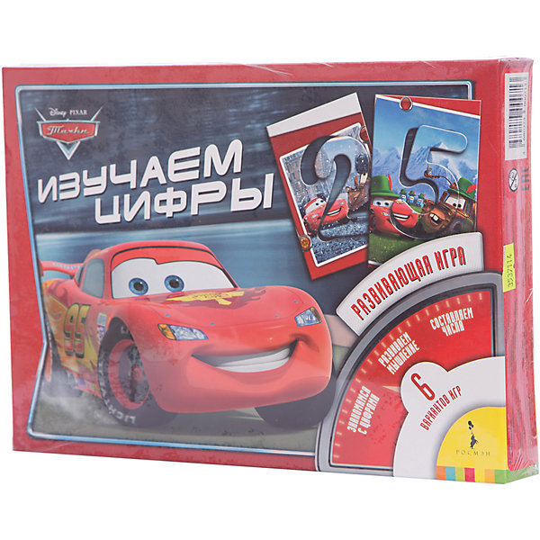Игра Изучаем цифры, ТачкиПособия для обучения счёту<br>Игра Изучаем цифры, Тачки (Cars) – это обучающая настольная игра для детей, где с помощью красочных карточек с любимыми персонажами мультфильма «Тачки (Cars)» Ваш малыш сможет выучить цифры, научится их узнавать и считать до 9. Кроме того, карточки можно использовать как трафарет. Игра «Изучаем цифры» поможет ребёнку развить знания об окружающем мире, мышление, внимание и мелкую моторику. <br><br>Дополнительная информация:<br><br>-Материал: картон<br>-Размеры с упаковкой: 28х19,5х2 см<br>-Вес с упаковкой: 230 г<br><br>Настольная игра «Изучаем цифры» - уникальная игрушка, которая неизменно будет радовать вашего ребенка, а также способствовать полноценному и гармоничному развитию его личности.<br><br>Игру Изучаем цифры, Тачки (Cars) можно купить в нашем магазине.<br>Ширина мм: 280; Глубина мм: 195; Высота мм: 200; Вес г: 230; Возраст от месяцев: 36; Возраст до месяцев: 84; Пол: Мужской; Возраст: Детский; SKU: 3537114;