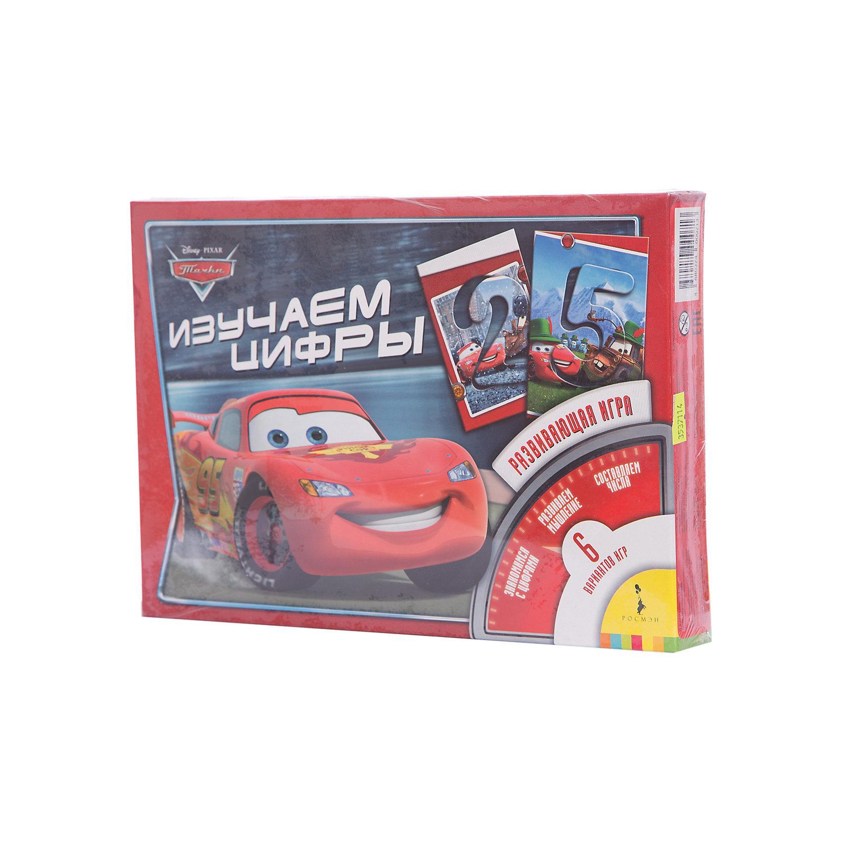 Игра Изучаем цифры, ТачкиРазвивающие игры<br>Игра Изучаем цифры, Тачки (Cars) – это обучающая настольная игра для детей, где с помощью красочных карточек с любимыми персонажами мультфильма «Тачки (Cars)» Ваш малыш сможет выучить цифры, научится их узнавать и считать до 9. Кроме того, карточки можно использовать как трафарет. Игра «Изучаем цифры» поможет ребёнку развить знания об окружающем мире, мышление, внимание и мелкую моторику. <br><br>Дополнительная информация:<br><br>-Материал: картон<br>-Размеры с упаковкой: 28х19,5х2 см<br>-Вес с упаковкой: 230 г<br><br>Настольная игра «Изучаем цифры» - уникальная игрушка, которая неизменно будет радовать вашего ребенка, а также способствовать полноценному и гармоничному развитию его личности.<br><br>Игру Изучаем цифры, Тачки (Cars) можно купить в нашем магазине.<br><br>Ширина мм: 280<br>Глубина мм: 195<br>Высота мм: 200<br>Вес г: 230<br>Возраст от месяцев: 36<br>Возраст до месяцев: 84<br>Пол: Мужской<br>Возраст: Детский<br>SKU: 3537114