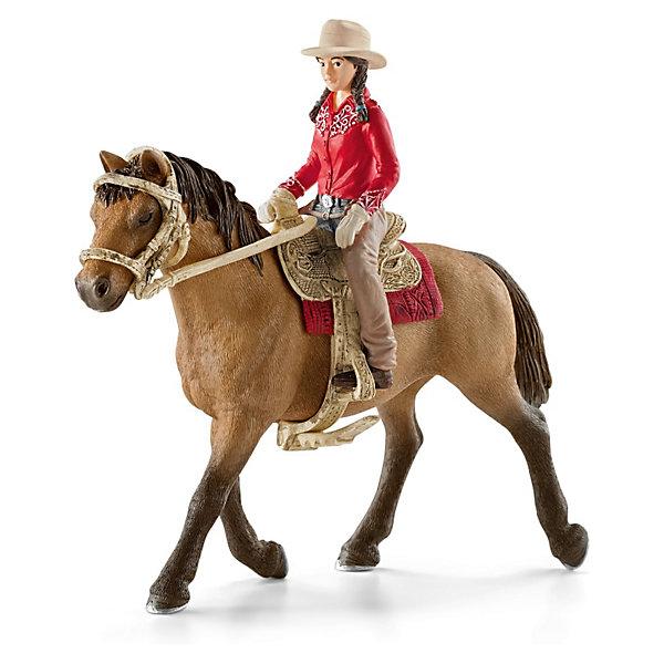 Всадник, SchleichФигурки домашних животных<br>Всадник, Schleich (Шляйх) -– это высококачественный коллекционный и игровой набор<br> <br>Опытная наездница, катающаяся на изящной лошадке, понравится каждой девочке и научит уверенно держаться в седле. Ребенок сможет придумать удивительные сюжеты скачек и соревнований, создать собственную ферму с участием других фигурок Scheich. <br><br>Наездница в красной рубашке, шляпе с широкими полями и в плотных перчатках катается верхом на своей лошади. Она снимается с лошадки, а еще можно поменять снаряжение и лошадь.Фигурка наездницы прочно располагается в седле и готова к активным скачкам. <br><br>Все детали набора выполнены из качественного каучукового пластика, который безопасен для детей и очень приятен на ощупь. Игрушки Schleich развивают мелкую моторику ребенка. Стимулируют творческое восприятие и позволяют создавать разнообразные сюжетно-ролевые игры с реалистичными персонажами.<br><br> Дополнительная информация:<br><br>-Состав: всадник, лошадь.<br>- Материал: каучуковый пластик.<br><br>Всадника, Schleich (Шляйх), можно купить в нашем интернет-магазине.<br><br>Ширина мм: 165<br>Глубина мм: 184<br>Высота мм: 87<br>Вес г: 193<br>Возраст от месяцев: 36<br>Возраст до месяцев: 96<br>Пол: Женский<br>Возраст: Детский<br>SKU: 3539480