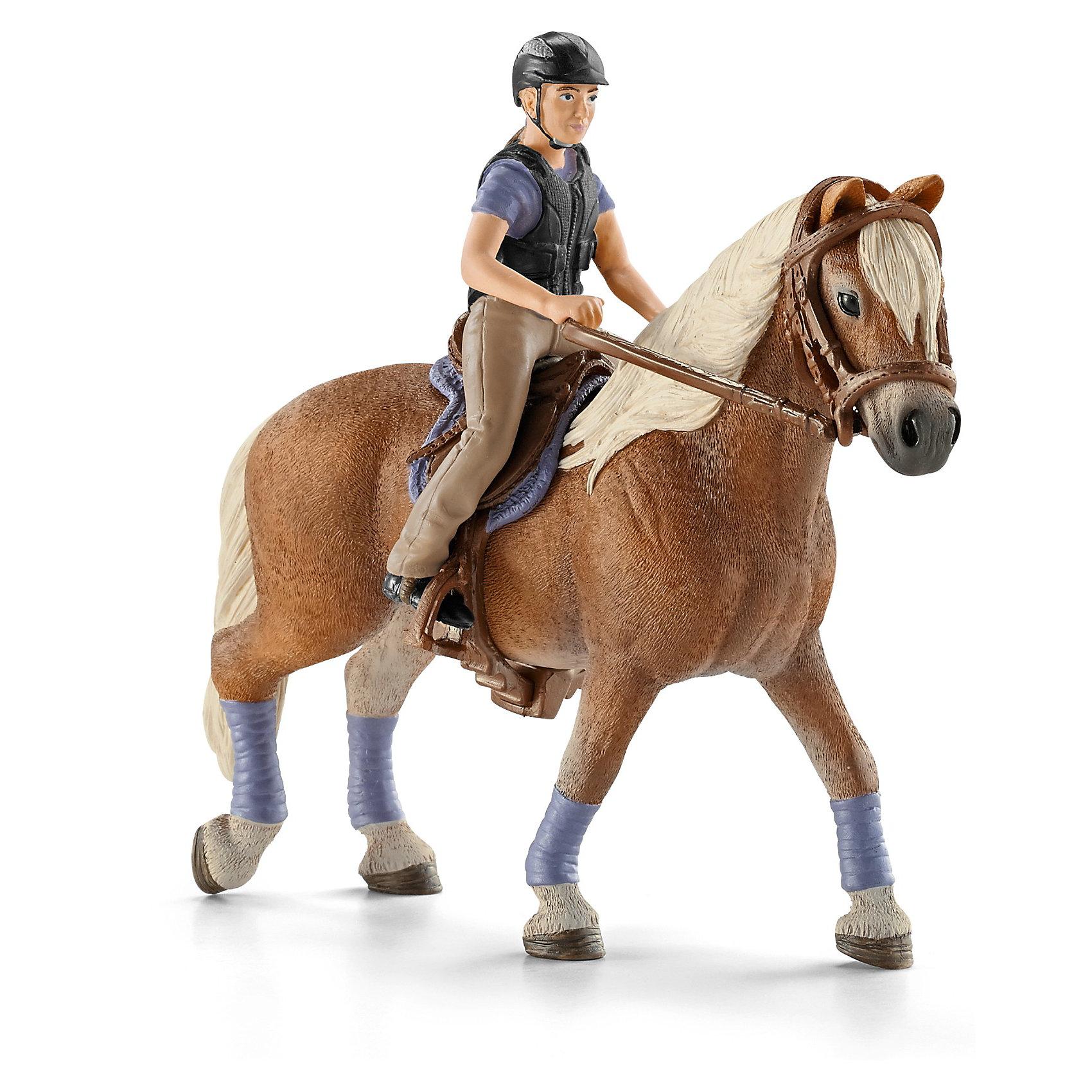 Всадник, SchleichВсадник, Schleich (Шляйх) -– это высококачественный коллекционный и игровой набор.<br><br>Профессиональный наездник грациозно прогуливается верхом на своей белогривой лошадке. Ребенок сможет создать интересную игру с участием реалистичных персонажей от немецкой компании Schleich. <br><br>В наборе представлена фигура наездника в профессиональной одежде для конного спорта, снаряжение для выездки и фигурка лошадки. Наездника и снаряжение легко снимается с лошади и позволяет размещать их на других фигурках лошадок или играть самостоятельно. <br><br>Все детали набора выполнены из качественного каучукового пластика, который безопасен для детей и очень приятен на ощупь. Игрушки Schleich развивают мелкую моторику ребенка. Стимулируют творческое восприятие и позволяют создавать разнообразные сюжетно-ролевые игры с реалистичными персонажами.<br><br> Дополнительная информация:<br><br>-Состав: всадник, лошадь.<br>- Материал: каучуковый пластик.<br><br>Всадника, Schleich (Шляйх), можно купить в нашем интернет-магазине.<br><br>Ширина мм: 189<br>Глубина мм: 162<br>Высота мм: 93<br>Вес г: 200<br>Возраст от месяцев: 36<br>Возраст до месяцев: 96<br>Пол: Женский<br>Возраст: Детский<br>SKU: 3539481