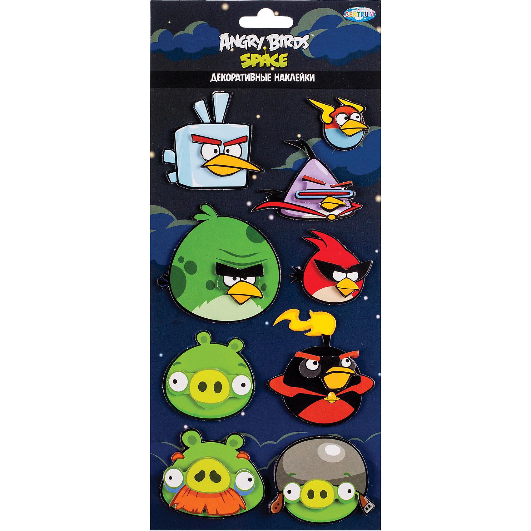 Наклейки  3D, Angry birds, CENTRUMНаклейки  3D, Angry birds, CENTRUM (Центрум) – прекрасный подарок для поклонников игры Аngry birds (Энгри Бердз).<br>Декоративные наклейки от Angry birds можно наклеивать на компьютерный стол, пенал, рюкзак, холодильник, шкаф. Это возможно благодаря уникальному клеевому покрытию, над созданием которого трудились специалисты. Так здорово, что теперь можно разместить изображение любимого персонажа в любом месте квартиры или дома!<br><br>Дополнительная информация:<br><br>-Размер упаковки: 14х34 см.<br><br>Наклейки  3D, Angry bird (Злые Птички) - порадуют Вашего малыша изображением любимых сердитыхптичек!<br><br>Наклейки  3D, Angry birds, CENTRUM (Центрум) можно купить в нашем интернет-магазине.<br><br>Ширина мм: 145<br>Глубина мм: 320<br>Высота мм: 5<br>Вес г: 27<br>Возраст от месяцев: 36<br>Возраст до месяцев: 144<br>Пол: Унисекс<br>Возраст: Детский<br>SKU: 3540460