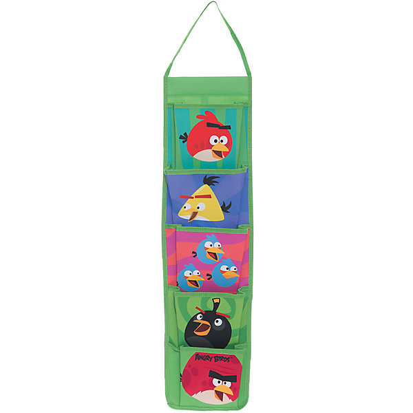 Органайзер подвесной, Angry birds, CENTRUMШкольные аксессуары<br>Органайзер подвесной, Аngry birds, CENTRUM (Центрум) – замечательный подарок поклонникам игры про сердитых птичек.<br>Органайзер подвесной, Angry Birds идеально подойдет для хранения мелких предметов. У органайзера 5 кармашков, каждый из них украшен портретом птички из игры Angry Birds .<br><br> Дополнительная информация: <br><br>-Размер: 30х21х5см.<br>-Материал: полиэстер<br><br>Органайзер подвесной, Аngry birds (Злые Птички), CENTRUM  (Центрум) можно купить в нашем интернет-магазине.<br>Ширина мм: 50; Глубина мм: 300; Высота мм: 210; Вес г: 210; Возраст от месяцев: 84; Возраст до месяцев: 120; Пол: Унисекс; Возраст: Детский; SKU: 3540492;
