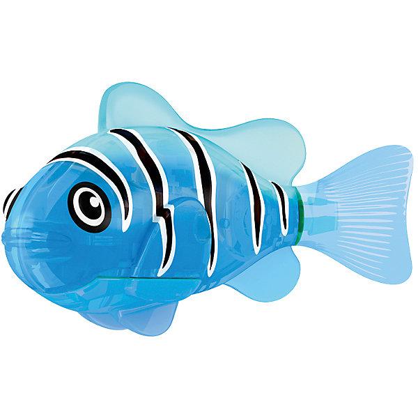 РобоРыбка светодиодная Синий маяк, RoboFishРоборыбки<br>РобоРыбка светодиодная Синий маяк, RoboFish (РобоФиш) - это инновационная рыбка, которая при соприкосновении с водой начинает не только плавать как живая, но и светиться.  <br><br>Синий цвет, которым светится представляемая модель РобоРыбки, соответствует её синему окрасу, украшенному чёрными полосками от спины. Благодаря встроенному светодиоду, за рыбками интересно наблюдать в темноте. Рыбок можно посадить в аквариум и любоваться ими, а можно запустить в ванной или бассейне и поплавать вместе с ними. Мягкий силиконовый хвост и электромагнитный мотор помогают ей двигаться в 5 различных направлениях. Игрушка плавает в воде в течение 4-4,5 минут, после чего ее можно вынуть из воды, и снова опустить в воду, чтобы рыбка заработала снова.<br><br>Комплектация: РобоРыбка, 4 батарейки, подставка<br><br>Дополнительная информация:<br><br>-Длина игрушки: около 7 см, высота: 3,5 см   <br>-Работает от 2х батареек типа А76 или RL44 (есть в комплекте 4 шт.)<br>-Материалы: силикон, пластмасса<br><br>РобоРыбка Синий маяк – это оригинальная игрушка для купания, которая доставит каждому ребенку массу удовольствия! Компания Зуру выпускает РобоРыбок различных видов и цветов. Так что помимо этой рыбки Синий маяк, Вы можете купить и других рыбок, собрав целую коллекцию. <br><br>РобоРыбку светодиодную Синий маяк, RoboFish (РобоФиш) можно купить в нашем магазине.<br><br>Ширина мм: 60<br>Глубина мм: 200<br>Высота мм: 50<br>Вес г: 90<br>Возраст от месяцев: 60<br>Возраст до месяцев: 144<br>Пол: Унисекс<br>Возраст: Детский<br>SKU: 3544545