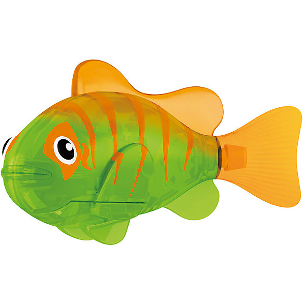 РобоРыбка светодиодная Гловер, RoboFishРоборыбки<br>РобоРыбка светодиодная Гловер, RoboFish (РобоФиш) - это инновационная рыбка, которая при соприкосновении с водой начинает не только плавать как живая, но и светиться.  <br><br>Данная РобоРыбка обладает очень красивым и особенным окрасом из оранжевых полосок со спины, зелёного фона и жёлтого хвостика. Кроме того, Гловер обладает красивым обрамлением окраса возле глаз. Благодаря встроенному светодиоду, за рыбками интересно наблюдать в темноте. Рыбок можно посадить в аквариум и любоваться ими, а можно запустить в ванной или бассейне и поплавать вместе с ними. Мягкий силиконовый хвост и электромагнитный мотор помогают ей двигаться в 5 различных направлениях. Игрушка плавает в воде в течение 4-4,5 минут, после чего ее можно вынуть из воды, и снова опустить в воду, чтобы рыбка заработала снова.<br><br>Комплектация: РобоРыбка, 4 батарейки, подставка<br><br>Дополнительная информация:<br><br>-Длина игрушки: около 7 см, высота: 3,5 см   <br>-Работает от 2х батареек типа А76 или RL44 (есть в комплекте 4 шт.)<br>-Материалы: силикон, пластмасса<br><br>Не знаете чем удивить своего ребенка? Подарите ему светящуюся РобоРыбку Гловер! РобоРыбки не только плавают в воде, но и светятся!<br><br>РобоРыбку светодиодную Гловер, RoboFish (РобоФиш) можно купить в нашем магазине.<br>Ширина мм: 60; Глубина мм: 200; Высота мм: 50; Вес г: 90; Возраст от месяцев: 60; Возраст до месяцев: 144; Пол: Унисекс; Возраст: Детский; SKU: 3544546;