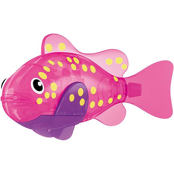 РобоРыбка светодиодная Вспышка, RoboFishРоборыбки<br>РобоРыбка светодиодная Вспышка, RoboFish (РобоФиш) - это инновационная рыбка, которая при соприкосновении с водой начинает не только плавать как живая, но и светиться.  <br><br>Данная РобоРыбка обладает очень красивым и особенным окрасом из желтых пятнышек по бокам на розовом фоне. Благодаря встроенному светодиоду, за рыбкой интересно наблюдать в темноте. Нескольких рыбок можно посадить в аквариум и любоваться ими, а можно запустить в ванной или бассейне и поплавать вместе с ними. Мягкий силиконовый хвост и электромагнитный мотор помогают ей двигаться в 5 различных направлениях. Игрушка плавает в воде в течение 4-4,5 минут, после чего ее можно вынуть из воды, и снова опустить в воду, чтобы рыбка заработала снова.<br><br>Комплектация: РобоРыбка, 4 батарейки, подставка<br><br>Дополнительная информация:<br><br>-Длина игрушки: около 7 см, высота: 3,5 см   <br>-Работает от 2х батареек типа А76 или RL44 (есть в комплекте 4 шт.)<br>-Материалы: силикон, пластмасса<br><br>РобоРыбка – это оригинальная игрушка для купания, которая доставит каждому ребенку массу удовольствия! Компания Зуру выпускает РобоРыбок различных видов и цветов. Так что помимо этой рыбки, Вы можете купить и других рыбок, собрав целую коллекцию. <br><br>РобоРыбку светодиодную Вспышка, RoboFish (РобоФиш) можно купить в нашем магазине.<br><br>Ширина мм: 60<br>Глубина мм: 200<br>Высота мм: 50<br>Вес г: 90<br>Возраст от месяцев: 60<br>Возраст до месяцев: 144<br>Пол: Унисекс<br>Возраст: Детский<br>SKU: 3544550