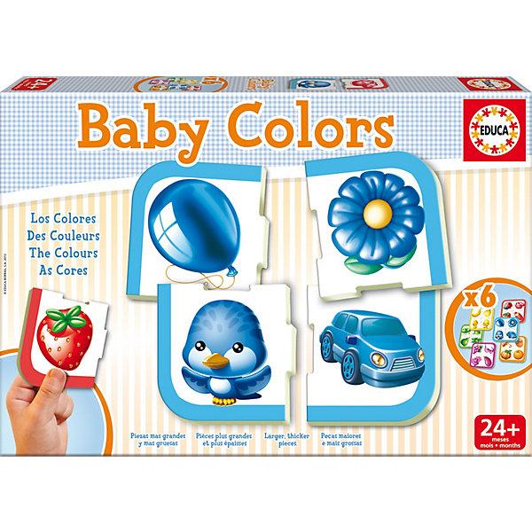 Игра-пазл Цвета, EducaПазлы для малышей<br>Игра-пазл Цвета, Educa<br><br>Характеристики:<br><br>• В набор входит: 6 пазлов по 4 детали<br>• Количество деталей: 24 шт.<br>• Размер упаковки: 31 * 4,5 * 21 см.<br>• Состав: картон<br>• Вес: 650 г.<br>• Для детей в возрасте: от 2 до 4 лет<br>• Страна производитель: Испания<br><br>Крупные детали пазла отлично собираются, ребёнок сможет выучить названия цветов и предметов, которые обычно бывают в этих цветовых гаммах. Целых шесть ярких пазлов дадут возможность развивать логическое мышление и распределять детали по цветам, а затем уже комбинируя их между собой вставляя в пазы. Узнавая новые слова ребёнок расширит кругозор и активный словарь.<br><br>Игру-пазл Цвета, Educa можно купить в нашем интернет-магазине.<br><br>Ширина мм: 320<br>Глубина мм: 217<br>Высота мм: 49<br>Вес г: 636<br>Возраст от месяцев: 24<br>Возраст до месяцев: 48<br>Пол: Унисекс<br>Возраст: Детский<br>Количество деталей: 4<br>SKU: 3546197