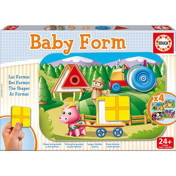 Игра-пазл Формы, EducaПазлы для малышей<br>Игра-пазл Формы, Educa<br><br>Характеристики:<br><br>• Количество деталей: 12 шт.<br>• Размер упаковки: 31 * 4,5 * 21 см.<br>• Состав: картон<br>• Вес: 660 гр.<br>• Для детей в возрасте: от 2 до 4 лет<br>• Страна производитель: Испания<br><br>Набор головоломок от испанской компании Educa (Эдука), специализирующейся на производстве высококачественных пазлов. Четыре интересные детские картинки с формами круга, квадрата и треугольника помогут развивать логическое мышление, узнавать новое и отлично проводить время. Треугольники, квадраты и круги от одних картинок можно вставлять в другие, создавая новые варианты. <br><br>Игра-пазл Формы, Educa можно купить в нашем интернет-магазине.<br>Ширина мм: 320; Глубина мм: 222; Высота мм: 50; Вес г: 650; Возраст от месяцев: 24; Возраст до месяцев: 48; Пол: Унисекс; Возраст: Детский; Количество деталей: 3; SKU: 3546198;