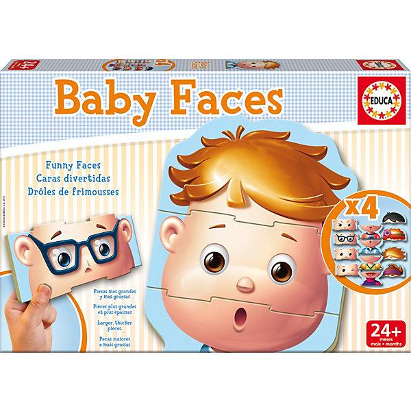 Игра-пазл Лица, EducaПазлы для малышей<br>Игра-пазл Лица, Educa<br><br>Характеристики:<br><br>• В набор входит: 4 пазла по 3 детали<br>• Количество деталей: 12 шт.<br>• Размер упаковки: 31 * 4,5 * 21 см.<br>• Состав: картон<br>• Вес: 700 г.<br>• Для детей в возрасте: от 2 до 5 лет<br>• Страна производитель: Испания<br><br>Лицензионный пазл с оригинальным дизайном соответствует высоким стандартам, которые подтверждены сертификатами качества. Крупные детали пазла отлично собираются, ребёнок сможет собрать лица на своё усмотрение, они комбинируются между собой. С помощью пазла с лицами можно научить малыша частям лица, расширить его кругозор и воображение.<br><br>Игру-пазл Лица, Educa можно купить в нашем интернет-магазине.<br><br>Ширина мм: 320<br>Глубина мм: 220<br>Высота мм: 48<br>Вес г: 693<br>Возраст от месяцев: 24<br>Возраст до месяцев: 48<br>Пол: Унисекс<br>Возраст: Детский<br>SKU: 3546199
