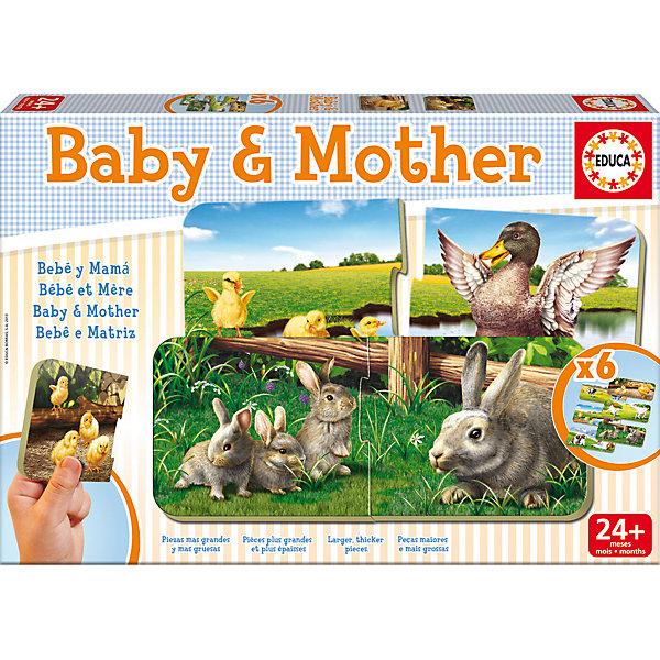 Игра-пазл Мамы и Дети, EducaПазлы для малышей<br>Игра-пазл Мамы и Дети, Educa<br><br>Характеристики:<br><br>• Количество деталей: 12 шт.<br>• Размер упаковки: 31 * 4,5 * 21 см.<br>• Состав: картон<br>• Вес: 660 гр.<br>• Для детей в возрасте: от 2 до 4 лет<br>• Страна производитель: Испания<br><br>Набор головоломок от испанской компании Educa (Эдука), специализирующейся на производстве высококачественных пазлов. Шесть интересных детских картинок с животными которые состоят из двух соединяемых деталей представлены в ярких рамках. <br><br>Игра-пазл Мамы и Дети, Educa можно купить в нашем интернет-магазине.<br>Ширина мм: 320; Глубина мм: 222; Высота мм: 48; Вес г: 657; Возраст от месяцев: 24; Возраст до месяцев: 48; Пол: Унисекс; Возраст: Детский; SKU: 3546201;