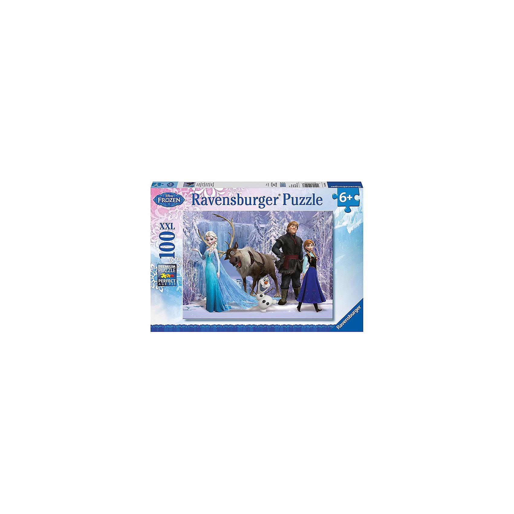 """Пазл """"Дисней: в царстве снежной королевы"""", 100 деталей, Ravensburger"""
