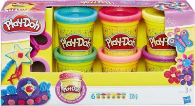 Hasbro Набор пластилина из 6 баночек Блестящая коллекция , Play-Doh