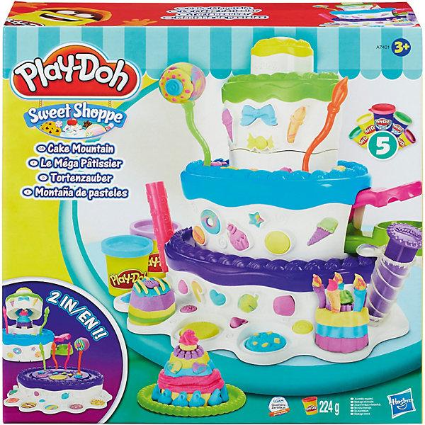 Игровой набор Праздничный торт, Play-DohНаборы для лепки<br>Игровой набор Праздничный торт, Play-Doh (Плей-До) - прекрасный набор, который понравится любому ребенку! Побудь настоящим кондитером и укрась свой праздничный торт так, как тебе хочется. В набор входят пять цветов пластилина Play-Doh. Три из них - нежных кремовых оттенков, два - яркие и люминесцентные. С помощью различных формочек, можно  создавать интересные украшения для торта  в виде ракушек, сердечек, цветов. Удобные приспособления позволяют с легкостью делать различные декоры. Если вы хотите ввести в цветовую гамму какой- то новый оттенок, пластилин можно купить отдельно. Большой торт является не только удивительной площадкой для раскрытия творческих способностей вашего ребенка. Внутри него очень удобно хранить все кондитерские инструменты и формочки. Игрушка прекрасно развивает творческие способности и мелкую моторику. <br><br>Дополнительная информация:<br><br>- Материал: пластилин, пластик<br>- Размер упаковки: 33 х 10,2 х 33см<br>- Комплектация: основа для торта, свечи ( 6 шт), тарелочки ( 2 шт), нож, вилка, кондитерский шприц, аксессуары- формочки ( 4 шт),  скалка для раскатки пластилина, пять баночек пластилина<br><br>Игровой набор Праздничный торт, Play-Doh можно купить в нашем магазине.<br><br>Ширина мм: 337<br>Глубина мм: 334<br>Высота мм: 111<br>Вес г: 1187<br>Возраст от месяцев: 36<br>Возраст до месяцев: 72<br>Пол: Унисекс<br>Возраст: Детский<br>SKU: 3550096