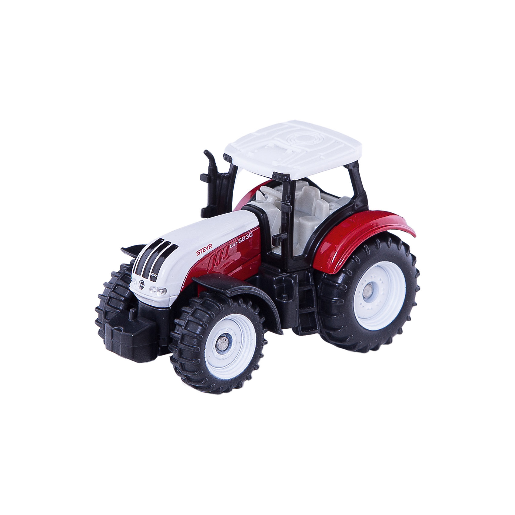 SIKU 1382 Трактор красно-белыйМашинки<br>Трактор 1382, Siku, станет прекрасным пополнением коллекции юного любителя техники. Модель является точной копией настоящего маневренного трактора-погрузчика Steyr и отличается высокой степенью детализации и тщательной проработкой всех элементов. Множество реалистичных деталей, таких как сиденье с рулем в съемной кабине водителя, выхлопная труба, лесенка в кабину делают игру с машиной еще интереснее и позволяют воспроизвести сценки из деревенской жизни. Мощные подвижные колеса с рифлеными шинами обеспечивают трактору хорошую проходимость по любой поверхности. Корпус модели выполнен из металла, детали изготовлены из ударопрочной пластмассы.<br><br>Дополнительная информация:<br><br>- Материал: металл, пластик.<br>- Размер: 3,8 x 9,7 x 7,8 см.<br>- Вес: 41 гр.<br><br>1382 Трактор красно-белый, Siku, можно купить в нашем интернет-магазине.<br><br>Ширина мм: 95<br>Глубина мм: 81<br>Высота мм: 38<br>Вес г: 45<br>Возраст от месяцев: 36<br>Возраст до месяцев: 96<br>Пол: Мужской<br>Возраст: Детский<br>SKU: 3550864