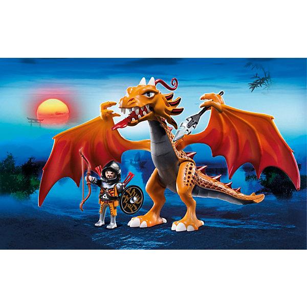 PLAYMOBIL 5483 Азиатский дракон: Огненный драконПластмассовые конструкторы<br>Playmobil (Плэймобил) 5483 - поражающий воображения игровой набор с элементами конструктора. В наборе Playmobil (Плэймобил) 5483 представлены большой устрашающий дракон, с подвижными крыльями и лапами, которыми он может держит оружие, и храбрый воин с оружием, который обязан победить огнедышащее чудовище.  Воин может оседлать дракона и он будет крепко держаться, упираясь ногами в крылья. Игровой набор с элементами конструктора - идеальный вариант для игр уже подросшего ребенка, он может разыгрывать различные истории, подсмотренные в фильмах или придумывать их сам.<br>Дай волю фантазии!  <br><br>Дополнительная информация:<br><br>- В комплекте: большой дракон с крыльями, которые поднимаются и опускаются, воин в доспехах и с оружием;<br>- Материал: пластик;<br>- Размер упаковки: 35 х 10 х 25 см;<br>- Вес с упаковкой: 400 г.<br><br>Азиатского дракона: Огненного дракона, PLAYMOBIL (Плеймобил) 5483 можно купить в нашем интернет-магазине.<br><br>Ширина мм: 350<br>Глубина мм: 250<br>Высота мм: 100<br>Вес г: 400<br>Возраст от месяцев: 60<br>Возраст до месяцев: 144<br>Пол: Мужской<br>Возраст: Детский<br>SKU: 3557220