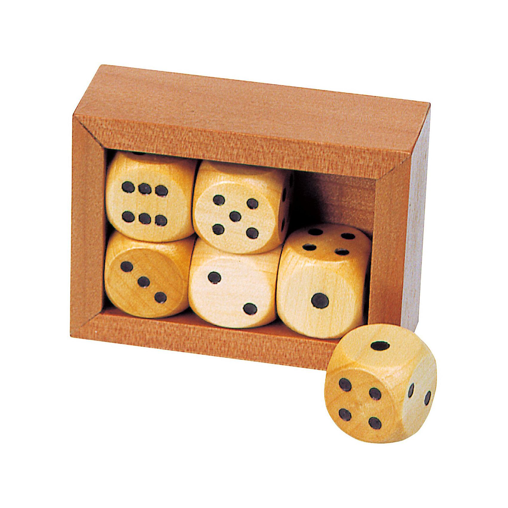 Игральные кости в деревянной коробке, TOYS PUREИгры в дорогу<br>Игральные кости в деревянной коробке, TOYS PURE поможет вам весело и интересно провести время в кругу семьи и друзей. <br><br>Набор состоит из деревянного ящика и 6 игральных кубиков. Игра в кости - одна из древнейших азартных игр. Принцип игры в кости заключается в следующем: каждый игрок по очереди бросает игральные кости, после броска сумма выпавших очков суммируется и используется для определения победителя и проигравшего. <br><br>Комплектация: деревянный ящик, 6 кубиков<br><br>Дополнительная информация:<br><br>-Материалы: дерево<br>-Высота коробки 4,5 см, кубик 1,6х1,6 см<br><br>Такой набор станет отличным подарком для любителей азартных игр!<br><br>Игральные кости в деревянной коробке, TOYS PURE можно купить в нашем магазине.<br><br>Ширина мм: 100<br>Глубина мм: 200<br>Высота мм: 300<br>Вес г: 500<br>Возраст от месяцев: 60<br>Возраст до месяцев: 1188<br>Пол: Унисекс<br>Возраст: Детский<br>SKU: 3561266