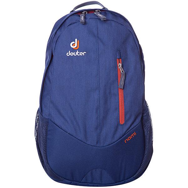 Школьный рюкзак Nomi, DeuterДорожные сумки и чемоданы<br>Рюкзак Nomi, Deuter, синий –  это маленький легкий рюкзак ваш надежный спутник в городской суете.<br>Рюкзак Nomi - отличный выбор для походов в бассейн, тренировку или как ручная кладь в самолете. Рюкзак имеет основное отделение с карманом для нeтбука/документов, большой передний карман, боковые карманы из сетки. Предусмотрен удобный доступ в основное отделение с помощью двусторонней u-образной молнии. Система спины Airstripes - два объемных контура из многослойной пены обтянуты трехмерной дышащей сеткой, между ними воздушный канал. Рюкзак минимально прилегает к спине. Анатомические лямки с трехмерной дышащей сеткой принимают форму плеч.<br><br>Дополнительная информация:<br><br>- Вес: 500 г.<br>- Объём: 16 л.<br>- Размеры: 45x24x20 см.<br>- Материал: полиэстер<br>- отражатель 3M<br>- Цвет: синий<br><br>Рюкзак Nomi, Deuter, синий можно купить в нашем интернет-магазине.<br>Ширина мм: 240; Глубина мм: 170; Высота мм: 450; Вес г: 400; Возраст от месяцев: 72; Возраст до месяцев: 144; Пол: Унисекс; Возраст: Детский; SKU: 3562605;