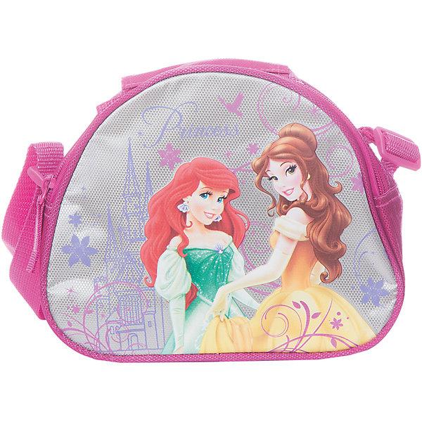 Сумочка для ланча с термоизоляцией, Принцессы ДиснейПринцессы Дисней<br>Сумочка с термоизоляцией Disney Princess (Принцессы Диснея) - стильная и вместительная сумочка для ланча. Ваша дочка сможет взять ее с собой куда угодно, чтобы перекусить во время путешествия или в школе, сумочка выполнена из качественных материалов, поэтому продукты в ней будут всегда свежими. Сумочка застегивается на молнию, оснащена регулируемыми лямками и ручкой. Выполнена в розово-cеребристиых тонах с изображением принцесс из диснеевских мультфильмов Ариэль и Белль.<br><br>Дополнительная информация:<br><br>- Материал: полиэстер.<br>- Размер: 16 х 21 х 7 см.<br>- Вес: 0,145 кг.<br><br>Сумочку для ланча с термоизоляцией Disney Princess можно купить в нашем интернет-магазине.<br>Ширина мм: 160; Глубина мм: 210; Высота мм: 70; Вес г: 145; Возраст от месяцев: 48; Возраст до месяцев: 84; Пол: Женский; Возраст: Детский; SKU: 3562901;