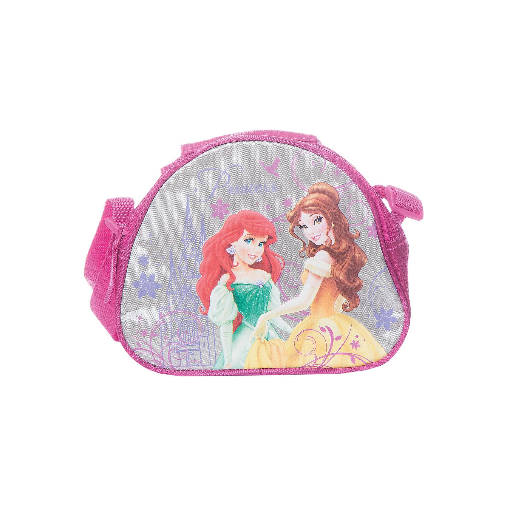 Сумочка для ланча с термоизоляцией, Принцессы ДиснейПринцессы Дисней<br>Сумочка с термоизоляцией Disney Princess (Принцессы Диснея) - стильная и вместительная сумочка для ланча. Ваша дочка сможет взять ее с собой куда угодно, чтобы перекусить во время путешествия или в школе, сумочка выполнена из качественных материалов, поэтому продукты в ней будут всегда свежими. Сумочка застегивается на молнию, оснащена регулируемыми лямками и ручкой. Выполнена в розово-cеребристиых тонах с изображением принцесс из диснеевских мультфильмов Ариэль и Белль.<br><br>Дополнительная информация:<br><br>- Материал: полиэстер.<br>- Размер: 16 х 21 х 7 см.<br>- Вес: 0,145 кг.<br><br>Сумочку для ланча с термоизоляцией Disney Princess можно купить в нашем интернет-магазине.<br><br>Ширина мм: 160<br>Глубина мм: 210<br>Высота мм: 70<br>Вес г: 145<br>Возраст от месяцев: 48<br>Возраст до месяцев: 84<br>Пол: Женский<br>Возраст: Детский<br>SKU: 3562901