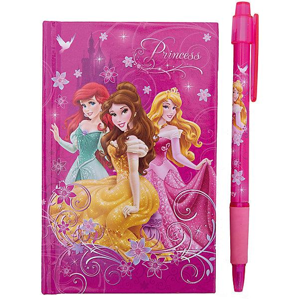 Набор в подарочной коробке, Принцессы ДиснейШкольные аксессуары<br>Набор канцелярский в подарочной коробке Disney Princess создан для поклонниц  диснеевских мультипликационных фильмов.<br><br>Дополнительная информация:<br><br>- В комплекте: ноутбук, ручка автоматическая.<br><br>Набор канцелярский  Disney Princess можно купить в нашем магазине.<br>Ширина мм: 130; Глубина мм: 160; Высота мм: 20; Вес г: 500; Возраст от месяцев: 48; Возраст до месяцев: 84; Пол: Женский; Возраст: Детский; SKU: 3562903;