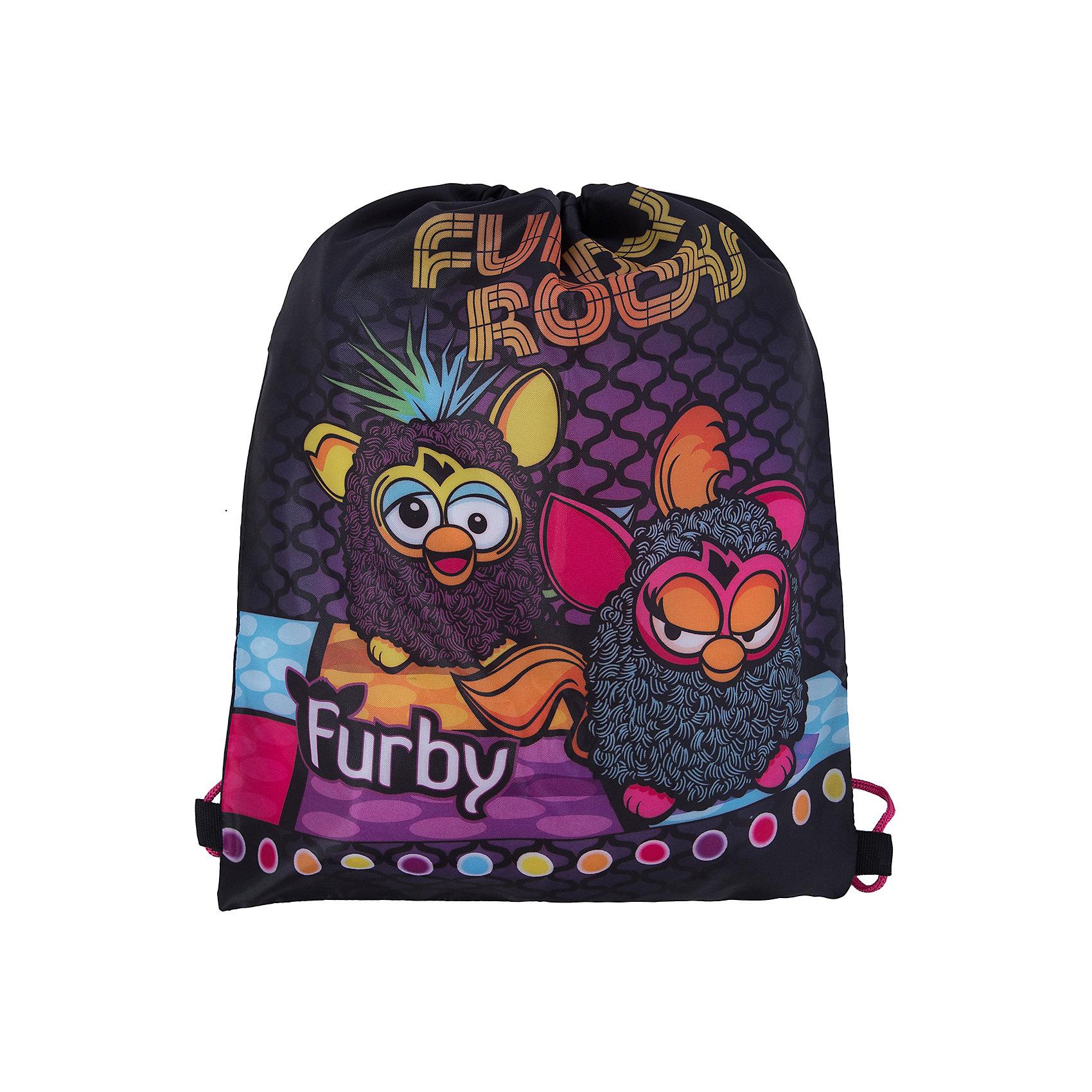 Сумка-рюкзак для обувиСумка-рюкзак для обуви Furby (Ферби)- отличный заменитель обычных пакетов, которые используют юные школьницы, вынужденные ежедневно носить с собой пару сменных туфель или кроссовки для занятия спортом. Удобная форма, небольшой размер, красивый дизайн - вот то, что понравится Вашей дочке в этом товаре.<br>Сумка-мешок Furby сделана из качественного текстиля, затягивается шнурками, выполняющими дополнительную функцию лямок Сумка-рюкзак для обуви с удобными лямками-завязками и наружным карманом на молнии теперь можно переносить не только в руках, но и за спиной. На задней поверхности сумки есть специальное отверстие для вентиляции.  В такой рюкзачок помещается одна пара обуви. Изюминкой дизайна считается использование изображения любимых героев.<br><br>Дополнительная информация:<br><br>- материал: полиэстер<br>- размер рюкзака: 43х34 см.<br>- вес: 71 г<br><br>Сумку-рюкзак для обуви Furby (Ферби)можно купить в нашем магазине.<br><br>Ширина мм: 350<br>Глубина мм: 350<br>Высота мм: 20<br>Вес г: 500<br>Возраст от месяцев: 48<br>Возраст до месяцев: 84<br>Пол: Унисекс<br>Возраст: Детский<br>SKU: 3562959