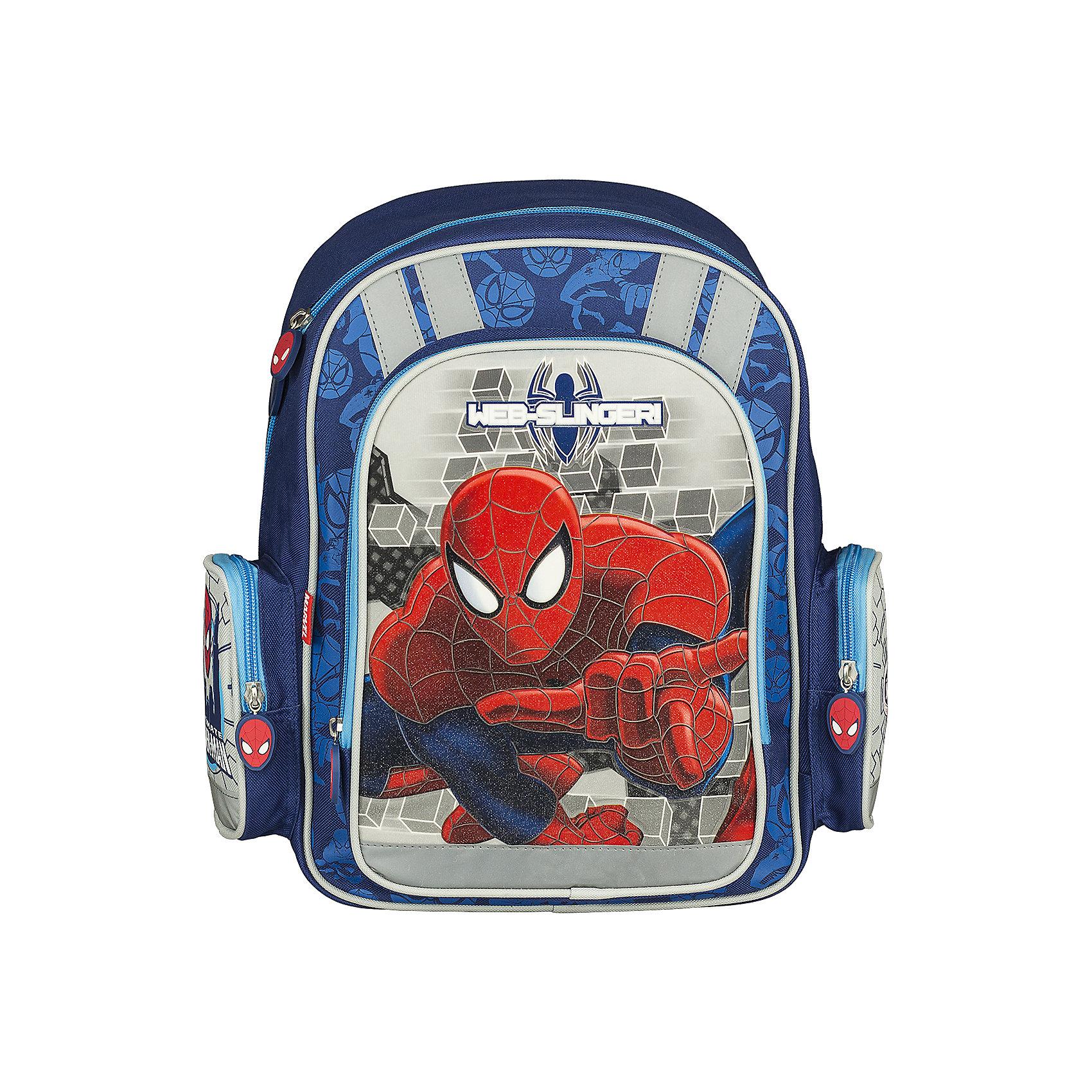 Эргономичный рюкзак с EVA-спинкой, Человек-ПаукЧеловек-Паук<br>Рюкзак эргономичный с EVA-спинкой Spider Man рекомендован детям от 7 лет и старше. Особенно привлекательным этот товар покажется родителям первоклассников. Легкость, безопасность, вместительность, стиль - вот главные характеристики этого рюкзака. Изделие относится к разряду ортопедических средств для переноски школьных принадлежностей.<br>На рюкзаке изображен любимый герой всех мальчиков - Spider-man (Человек-паук). Спинка рюкзака сделана с применением упругого материала EVA, благодаря чему во время эксплуатации позвоночник ребенка не будет испытывать больших нагрузок. Правильную осанку будет поддерживать дополнительный пластиковый элемент. Задняя поверхность ортопедического рюкзака с EVA-спинкой Человек Паук покрыта сеточкой. Лямки широкие. Их можно регулировать в зависимости от роста ребенка. Внутри имеются 2 вертикальные вставки, которые делят пространство рюкзака на несколько секторов. Сверху расположена большая ручка для переноски. У рюкзака есть большой фронтальный карман на молнии и два небольших боковых закрывающихся отделения. Для безопасности ребенка на дороге предусмотрены светоотражающие элементы.<br><br>Дополнительная информация:<br><br>- размер: 38х36х16 см.<br>- материал: полиэстер<br>- вес: 579 г<br><br>Рюкзак ортопедический с EVA-спинкой Spider Man можно купить в нашем магазине.<br><br>Ширина мм: 380<br>Глубина мм: 290<br>Высота мм: 130<br>Вес г: 735<br>Возраст от месяцев: 48<br>Возраст до месяцев: 84<br>Пол: Мужской<br>Возраст: Детский<br>SKU: 3562967