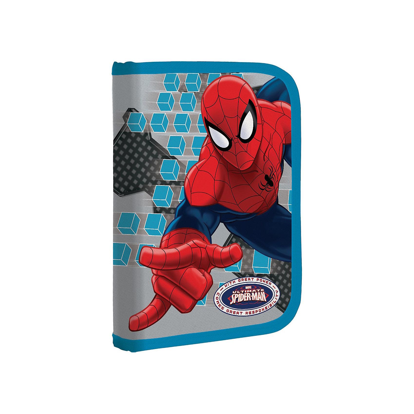 Пенал, Человек-ПаукЧеловек-Паук<br>Пенал жесткий ламинированный понравится мальчишке, увлеченному мультиком о приключениях необычного героя комиксов про Человека-паука (Spider Man). В таком пенале очень удобно носить все необходимые школьные канцелярские принадлежности. Имеются крепления для канцелярских принадлежностей, застежка-молния<br><br>Дополнительная информация:<br><br>- размер: 9х20х20,5 см.<br>- механизм закрывания молния<br>- количество отделений: 1<br><br>Пенал жесткий ламинированный Spider Man можно купить в нашем магазине.<br><br>Ширина мм: 210<br>Глубина мм: 140<br>Высота мм: 40<br>Вес г: 155<br>Возраст от месяцев: 48<br>Возраст до месяцев: 84<br>Пол: Мужской<br>Возраст: Детский<br>SKU: 3562970