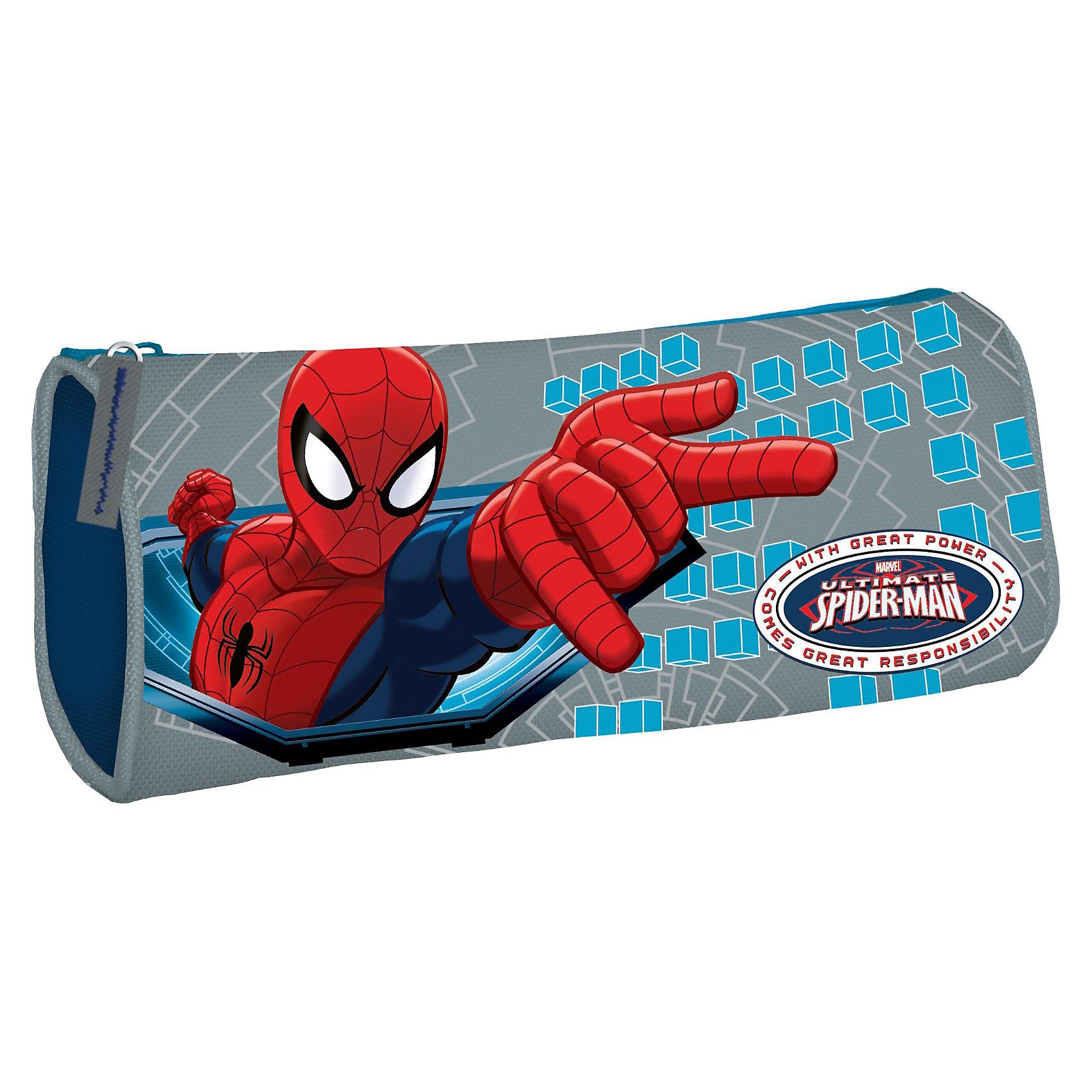 Пенал, Человек-ПаукЧеловек-Паук<br>Пенал мягкий с изображением Человека-паука (Spider Man) понравится всем поклонникам этого  сериала. В нем удобно носить ручки, карандаши, терки и разные канцелярские мелочи, которые могут пригодиться Вашему ребенку в школе. Пенал сделан из мягкого материала. Изделие хорошо держит форму. Мягкий пенал Spider Man застегивается на молнию.<br>Внутри имеется одно большое отделение для хранения канцелярских принадлежностей<br><br>Дополнительная информация:<br><br>- материал: полиэстер<br>- размер: 9 х 21 х 5 см.<br><br>Пенал мягкий Spider Man можно купить в нашем магазине.<br><br>Ширина мм: 90<br>Глубина мм: 210<br>Высота мм: 50<br>Вес г: 67<br>Возраст от месяцев: 48<br>Возраст до месяцев: 84<br>Пол: Мужской<br>Возраст: Детский<br>SKU: 3562974