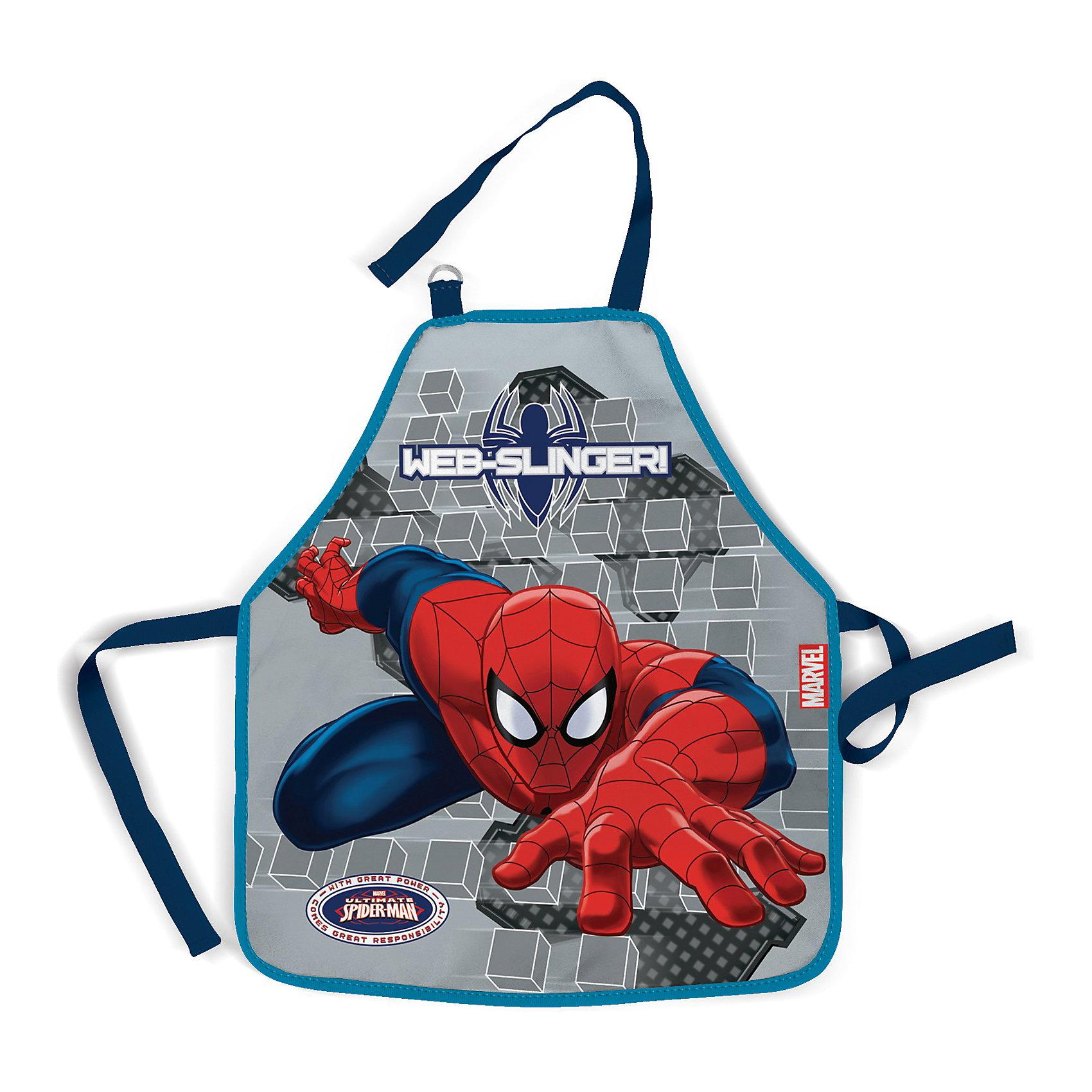 Фартук, Человек-ПаукЕсли Ваш малыш любит рисовать красками или помогать маме не кухне, то фартук с изображением любимого героя комиксов про Человека-паука (Spider Man) - это то что нужно! <br><br>Дополнительная информация:<br><br> - размер: 51х44 см.<br><br>Фартук, Spider Man можно купить в нашем магазине.<br><br>Ширина мм: 510<br>Глубина мм: 440<br>Высота мм: 10<br>Вес г: 580<br>Возраст от месяцев: 48<br>Возраст до месяцев: 84<br>Пол: Мужской<br>Возраст: Детский<br>SKU: 3562977