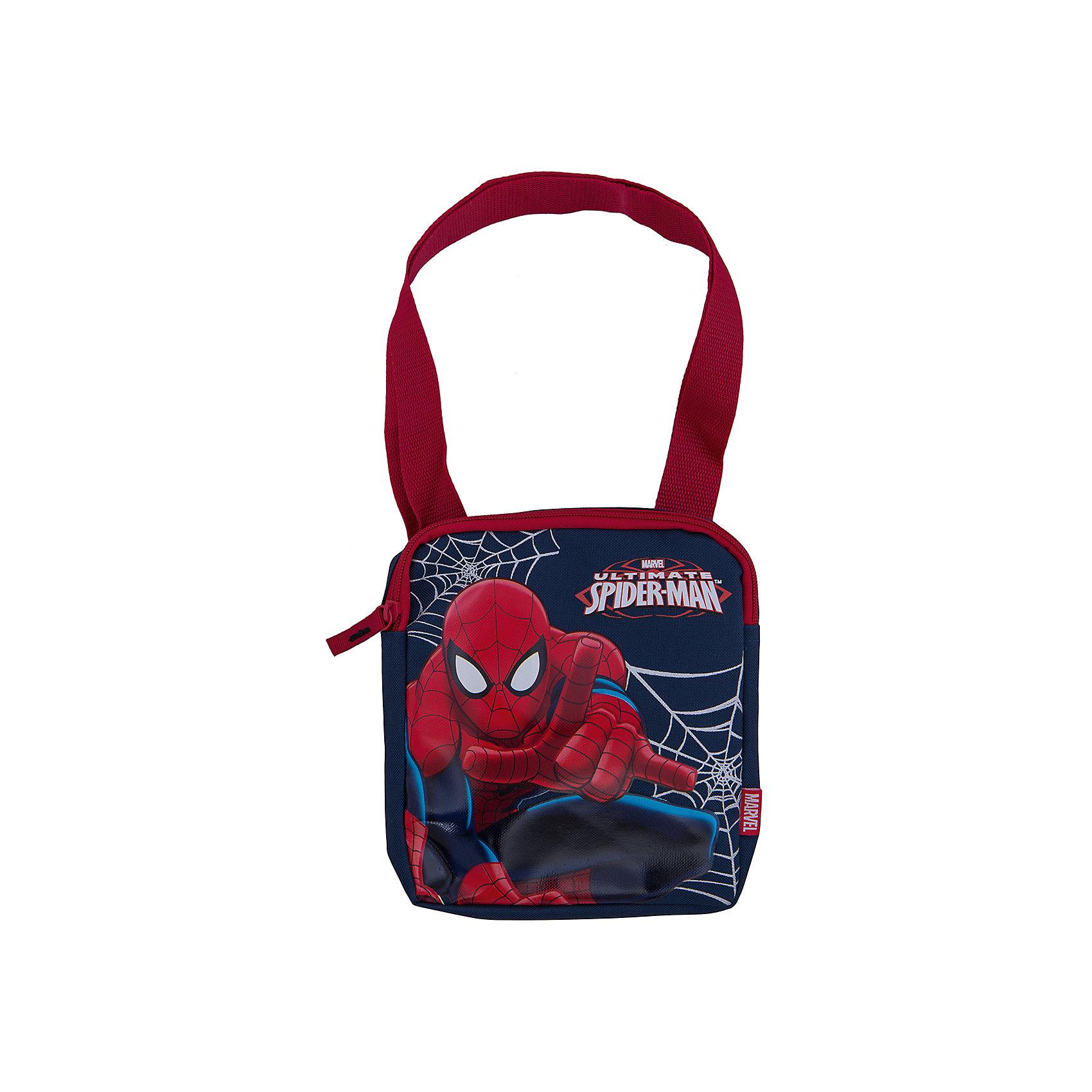 Сумка, Человек-ПаукСумка Spider man (Человек Паук) оформленная в стиле одноименного популярного фильма порадует и первоклашку и подростка. Сумка хорошо подходит для длительных прогулок и путешествий, достаточно вместительна, чтобы сложить в нее все самое необходимое.<br><br>Сумка красно-синего цвета выполнена из прочной непромокаемой ткани, застежка на молнии. Сумка оснащена красным, регулируемым по размеру ремнем для ношения на плече. На передней стороне изображен герой фильма «Человек-Паук». <br><br>Дополнительная информация:<br><br>- Материал: прочный текстиль. <br>- Размер: 19 х 17 х 3,5 см. <br><br>Сумку Человек-паук можно купить в нашем интернет-магазине.<br><br>Ширина мм: 350<br>Глубина мм: 350<br>Высота мм: 200<br>Вес г: 500<br>Возраст от месяцев: 48<br>Возраст до месяцев: 84<br>Пол: Мужской<br>Возраст: Детский<br>SKU: 3562980