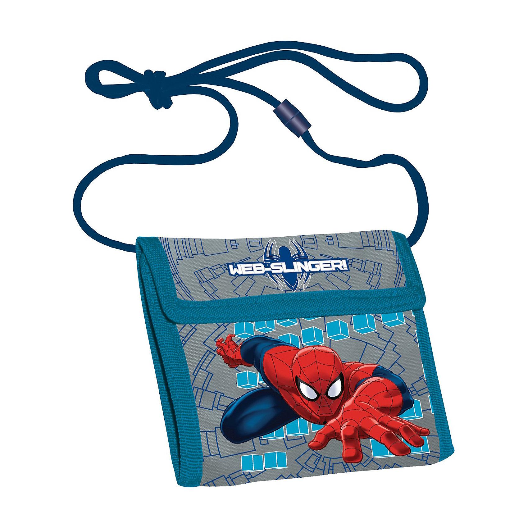 Кошелек, Человек-ПаукДеткий кошелек с изображением Spider man (Человек паук) - отличный подарок для мальчика. Обычно дети любят подражать взрослым, и конечно иметь свой собственный кошелек - это мечта любого ребенка. В него можно складывать деньги на карманные расходы, а также хранить в нем различные вкладыши, наклейки и пр. Детский  кошелек Человек паук имеет яркую расцветку с картинками из известного фильма. Закрывается на липучку, имеет карман на молнии. Такой детский кошелек станет классным аксессуаром для вашего мальчика.<br><br>Дополнительная информация:<br><br>- размеры: 9 х 9 х 2 см<br><br>Кошелек, Человек-паук можно купить в нашем магазине.<br><br>Ширина мм: 100<br>Глубина мм: 150<br>Высота мм: 10<br>Вес г: 100<br>Возраст от месяцев: 48<br>Возраст до месяцев: 84<br>Пол: Мужской<br>Возраст: Детский<br>SKU: 3562982