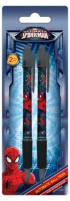 Академия групп Ручки шариковые, 2 шт, синий, Человек-Паук