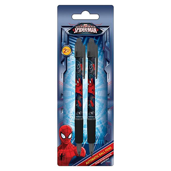 Ручки шариковые, 2 шт, синий, Человек-ПаукЧеловек-Паук<br>Ручки автоматические шариковые с Spider-Man (Человек-Паук) станут прекрасными помощницами Вашей девочки в школе!<br><br>Дополнительная информация:<br><br>- цвет пасты: синий, 2 шт. <br>- печать на корпусе: термоперенос. <br>- размеры упаковки: 15 х 20 х 7 см.<br><br>Ручки шариковые Spider Man можно купить в нашем магазине.<br><br>Ширина мм: 200<br>Глубина мм: 70<br>Высота мм: 15<br>Вес г: 30<br>Возраст от месяцев: 48<br>Возраст до месяцев: 84<br>Пол: Мужской<br>Возраст: Детский<br>SKU: 3562996