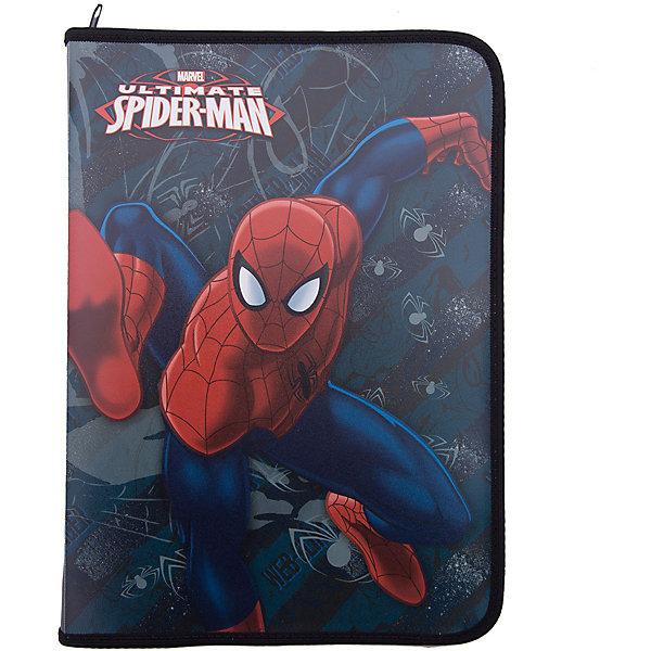 Папка для тетрадей, A4, на молнии, Человек-ПаукПапки для труда<br>Папка для тетрадей пластиковая на молнии с изображением супергероя Человеа-паука (Spider Man) позволит Вашему ребенку сохранить в целости и сохранности все школьные тетради!<br><br>Дополнительная информация:<br><br>- формат: А4.<br>- материал: полипропилен<br>- количество отделений: 1<br>- тип замка: молния<br><br>Папку для тетрадей А4 Spider Man можно купить в нашем магазине.<br>Ширина мм: 484; Глубина мм: 324; Высота мм: 10; Вес г: 300; Возраст от месяцев: 48; Возраст до месяцев: 84; Пол: Мужской; Возраст: Детский; SKU: 3563002;