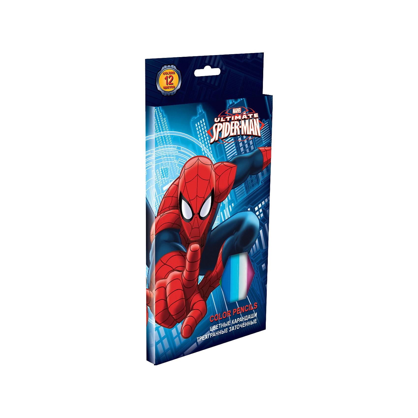 Цветные карандаши, 12 шт, треугольные толстые, Человек-ПаукНабор цветных карандашей с изображением Spider Man (Человек-паук) порадует Вашего мальчика своим качеством! В наборе: 12 шт. (треугольные толстые). <br><br>Дополнительная информация:<br><br>- цветные карандаши длиной 17,8 см. <br>- заточенные; <br>- розовое дерево; <br>- цветной грифель <br><br>Набор цветных карандашей с изображением Spider Man можно купить в нашем магазине.<br><br>Ширина мм: 200<br>Глубина мм: 100<br>Высота мм: 10<br>Вес г: 150<br>Возраст от месяцев: 48<br>Возраст до месяцев: 84<br>Пол: Мужской<br>Возраст: Детский<br>SKU: 3563009