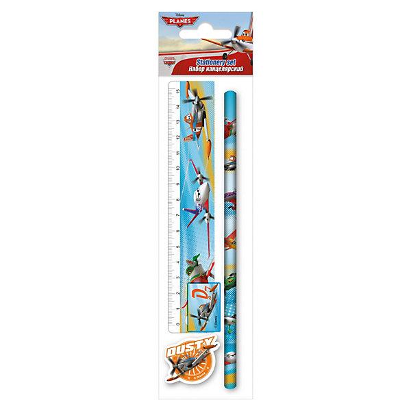 Набор канцелярский: линейка, карандаш, точилка, ластик Самолеты<br>Набор канцелярский в блистере Самолеты станет прекрасным помощником Вашему ребенку в школе! В набор входит ластик .<br><br>Дополнительная информация:<br><br>- точилка <br>- линейка 15 см. <br>- карандаш чернографитный 2 шт. <br>- размер 230 х 15 х 52 мм.<br><br>Набор канцелярский в блистере Самолеты можно купить в нашем магазине.<br>Ширина мм: 230; Глубина мм: 52; Высота мм: 15; Вес г: 35; Возраст от месяцев: 48; Возраст до месяцев: 84; Пол: Мужской; Возраст: Детский; SKU: 3563014;