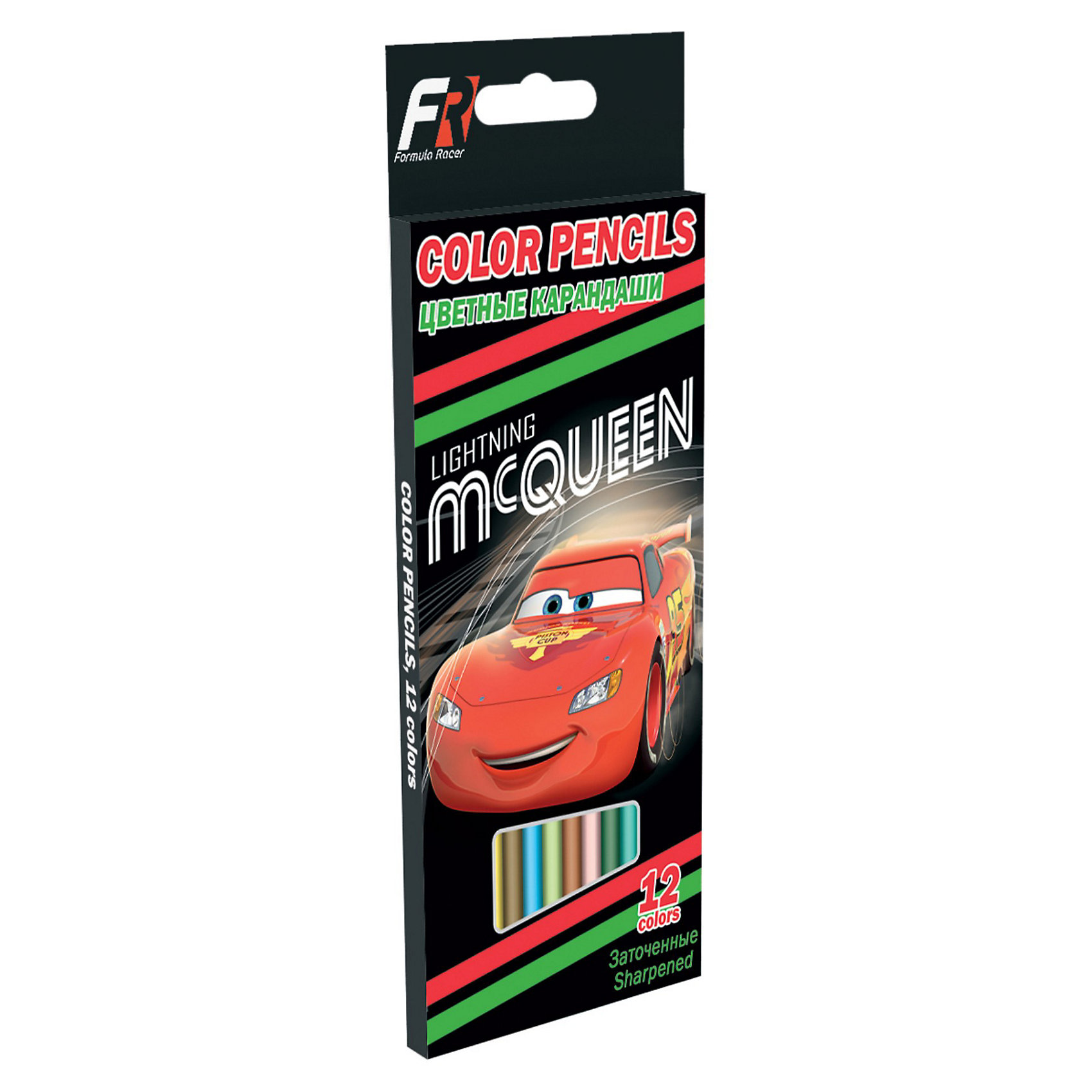 Цветные карандаши, 12 шт, ТачкиЦветные карандаши, 12 шт, Тачки (Cars) — отличный набор для детского творчества. Карандаши упакованы в коробку из мелованного картона, с иллюстрацией в стиле мультфильма Тачки (Cars), что несомненно порадует маленьких поклонников данного мультфильма. <br><br>Рисование карандашами способствует развитию мелкой моторики рук, внимания, творческих и художественных способностей ребенка. <br><br>Подарите Вашему ребенку праздник творчества!<br><br>Дополнительная информация:<br><br>- Диаметр грифеля: 3 мм<br>- Заточенные<br>- Длина: 17,7 см<br>- Дерево: липа<br>- Размер упаковки: 21,5 х 9 х 1 см<br><br>Цветные карандаши, 12 шт, Тачки (Cars) можно купить в нашем интернет-магазине.<br><br>Ширина мм: 215<br>Глубина мм: 90<br>Высота мм: 10<br>Вес г: 100<br>Возраст от месяцев: 48<br>Возраст до месяцев: 84<br>Пол: Мужской<br>Возраст: Детский<br>SKU: 3563057