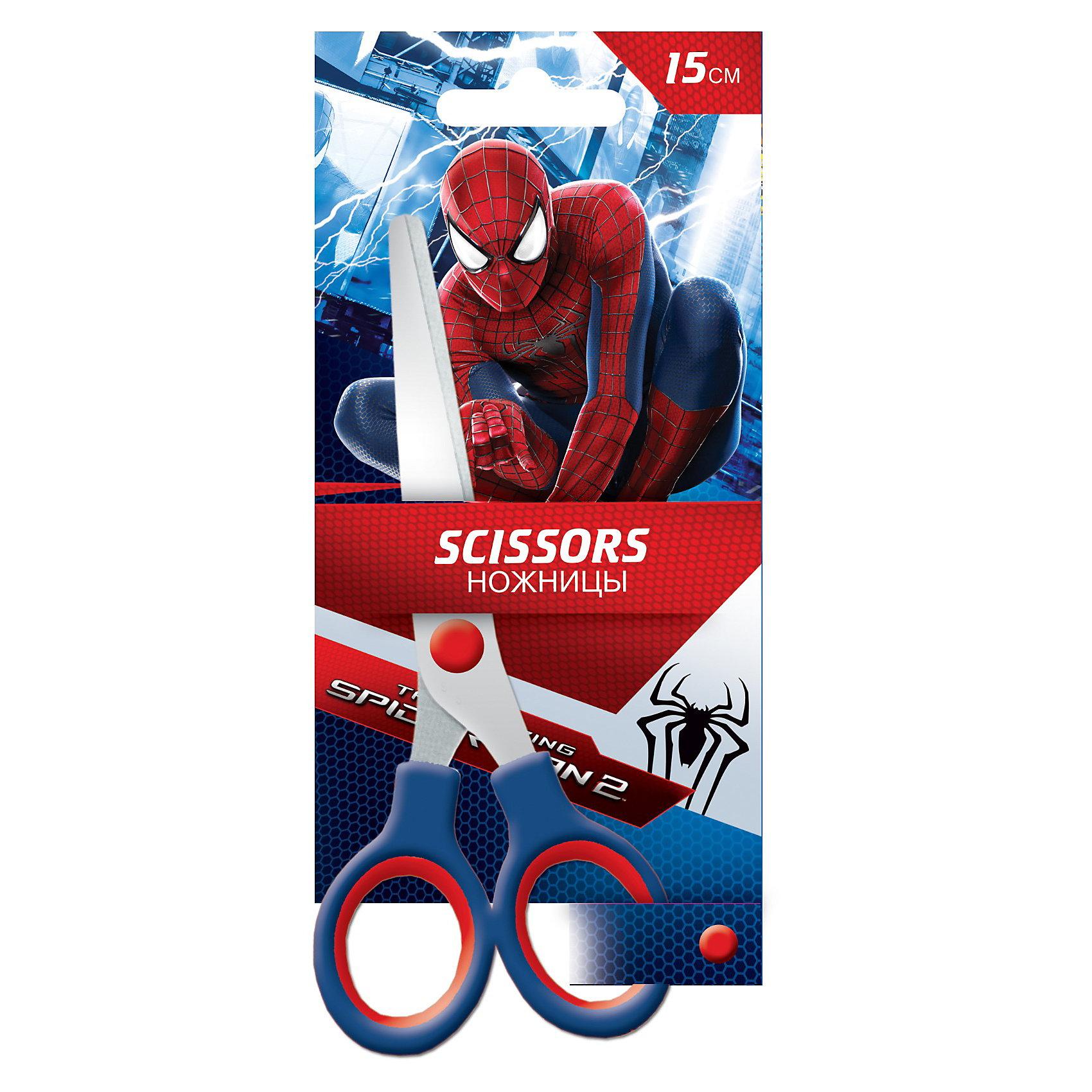 Ножницы, 15 см, Человек-ПаукЧеловек-Паук<br>Ножницы, 15 см, Человек-паук — необходимая вещь на уроках труда. Удобные ручки, компактный размер. Ножницы изготовлены из нержавеющей стали. Упаковка иллюстрирована изображением с героем комиксов — Человеком-Пауком, что несомненно порадует юных героев.<br><br>Яркий аксессуар, который обязательно понравится поклонникам Человека-Паука!<br><br>Дополнительная информация:<br><br>- Упаковка: блистер<br>- Нержавеющая сталь<br>- Гравировка логотипа на лезвиях<br>- Удобные ручки<br>- Размер упаковки: 18 х 8 х 1 см<br>- Вес: 40 г.<br><br>Ножницы, 15 см, Человек-паук (Spider-Man) можно купить в нашем интернет-магазине.<br><br>Ширина мм: 180<br>Глубина мм: 80<br>Высота мм: 10<br>Вес г: 37<br>Возраст от месяцев: 48<br>Возраст до месяцев: 84<br>Пол: Мужской<br>Возраст: Детский<br>SKU: 3563076