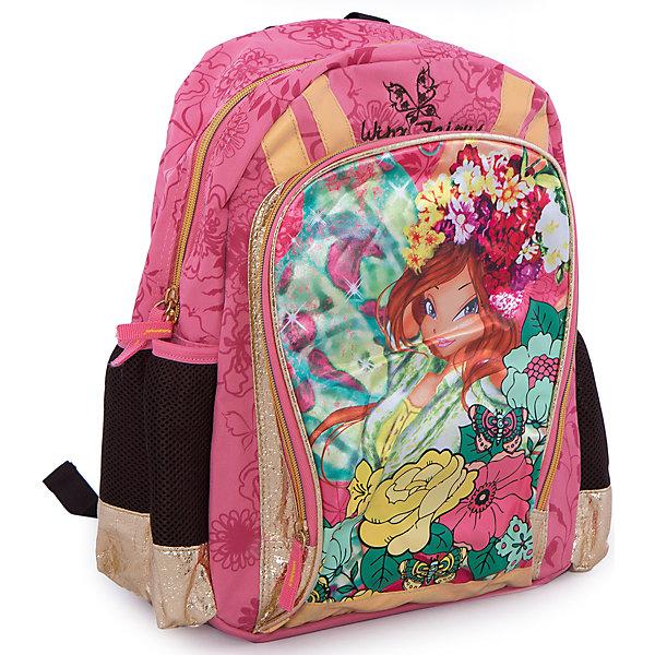 Школьный рюкзак, Winx ClubПопулярные игрушки<br>Рюкзак, мягкая спинка, Winx Club (Клуб Винкс) — яркая и стильная вещь для маленьких поклонниц клуба Винкс. Мягкая спинка с вентиляционной сеткой и небольшой вес рюкзака обеспечат комфорт при использовании. Лямки рюкзака регулируются, сверху имеется дополнительная ручка. Рюкзак выполнен в розовом цвете и украшен картинкой в стиле мультфильма WinxClub.<br><br>Порадуйте юную модницу прекрасным подарком!<br><br>Дополнительная информация:<br><br>- Материал: текстиль<br>- Размер: 40 х 30 х 13 см<br>- Вес: 580 г.<br><br>Рюкзак, мягкая спинка, Winx Club (Клуб Винкс) можно купить в нашем интернет-магазине.<br><br>Ширина мм: 400<br>Глубина мм: 300<br>Высота мм: 130<br>Вес г: 579<br>Возраст от месяцев: 72<br>Возраст до месяцев: 108<br>Пол: Женский<br>Возраст: Детский<br>SKU: 3563084