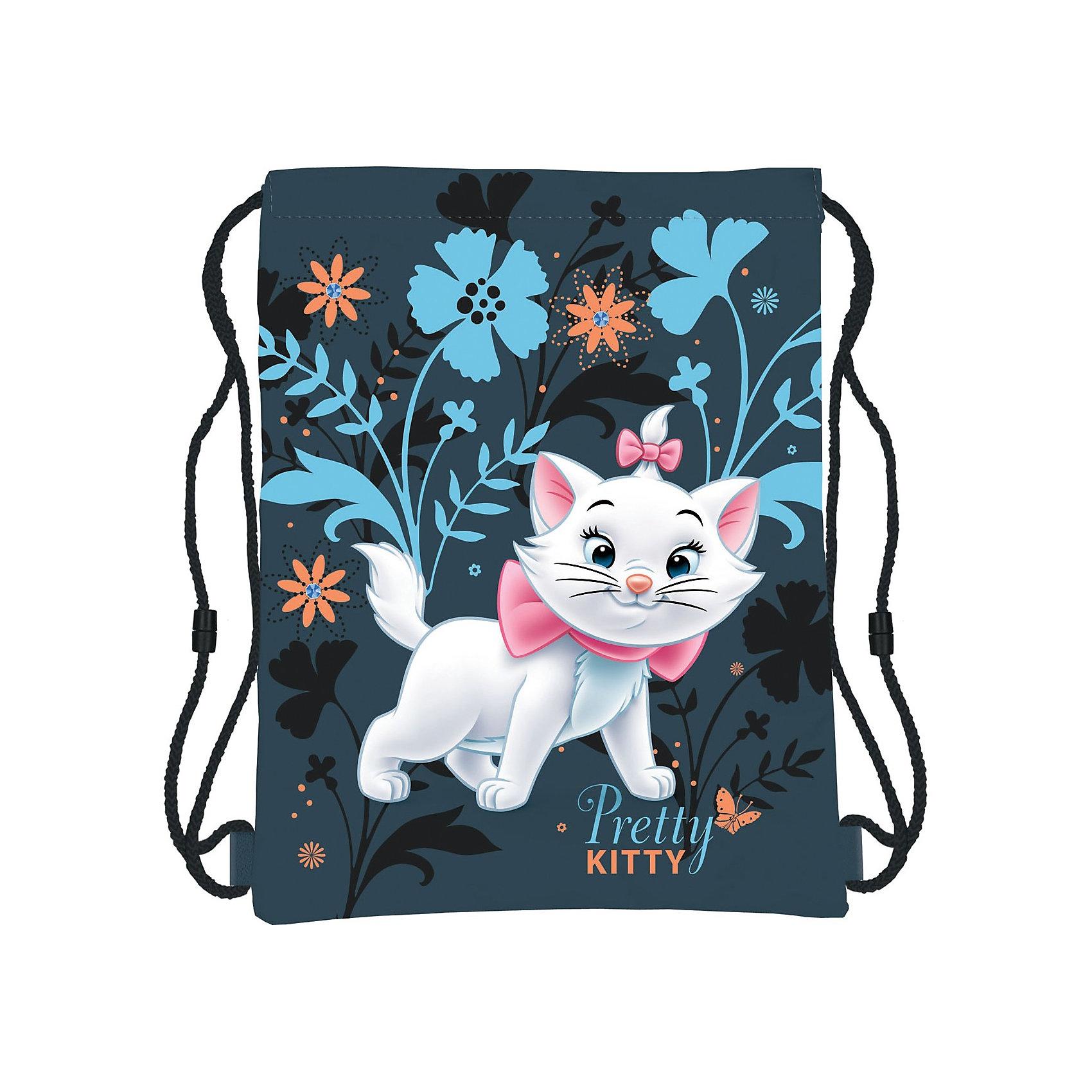 Сумка-рюкзак для обуви Кошка Мари, Коты-АристократыСумка-рюкзак для обуви Marie Cat (кошка Мари) нежной сине-голубой расцветки идеально подойдет для сменной обуви маленькой школьницы и для физкультурной формы. <br><br>Рюкзачок выполнен из прочной непромокаемой ткани, по бокам затягивается специальными шнурками. Лицевая сторона украшена изображением очаровательной белой<br>кошечки Мари, героини диснеевского мультфильма Коты-Аристократы.<br><br>Дополнительная информация:<br><br>- Материал: полиэстер.<br>- Размер: 43 х 34 см.<br>- Вес: 100 гр.<br><br>Сумку-рюкзак для обуви Marie Cat можно купить в нашем интернет-магазине.<br><br>Ширина мм: 160<br>Глубина мм: 180<br>Высота мм: 15<br>Вес г: 71<br>Возраст от месяцев: 96<br>Возраст до месяцев: 108<br>Пол: Женский<br>Возраст: Детский<br>SKU: 3563106
