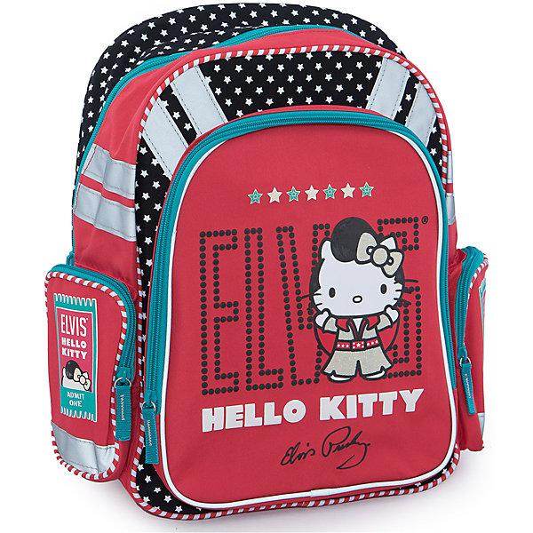 Ортопедический рюкзак с EVA-спинкой, Hello KittyHello Kitty<br>Ортопедический рюкзак Hello Kitty (Хелло Китти) эргономичной конструкции с EVA-спинкой идеальный рюкзак для школьных занятий. Благодаря использованию современного материала EVA, позвоночник ребенка не будет испытывать больших нагрузок во время эксплуатации рюкзака. Уплотненные боковинки рюкзака и дно помогают распределить вес всего рюкзака и сохранить его форму.<br><br>Рюкзак внутри разделен двумя вставками, имеются крепления для канцелярских принадлежностей и небольшой сетчатый карман. Широкие лямки рюкзака регулируются по росту и размеру ребенка, имеется удобная ручка для переноски. Сбоку расположены карман для мелочей и отделение для бутылочки с водой, на лицевой стороне имеется большой жесткий карман на молнии. Для безопасности ребенка предусмотрены светоотражающие элементы. Рюкзак оформлен в стиле бренда Hello Kitty, красного цвета с золотыми вставками, лицевая сторона украшена изображением знаменитой белой кошечки. <br><br>Дополнительная информация:<br><br>- Материал: полиэстер.<br>- Размер: 16 х 38 х 36 см.<br>- Вес:  0,77 кг.<br><br>Рюкзак ортопедический с EVA-спинкой Hello Kitty можно купить в нашем интернет-магазине.<br>Ширина мм: 380; Глубина мм: 290; Высота мм: 130; Вес г: 735; Возраст от месяцев: 72; Возраст до месяцев: 108; Пол: Женский; Возраст: Детский; SKU: 3563120;