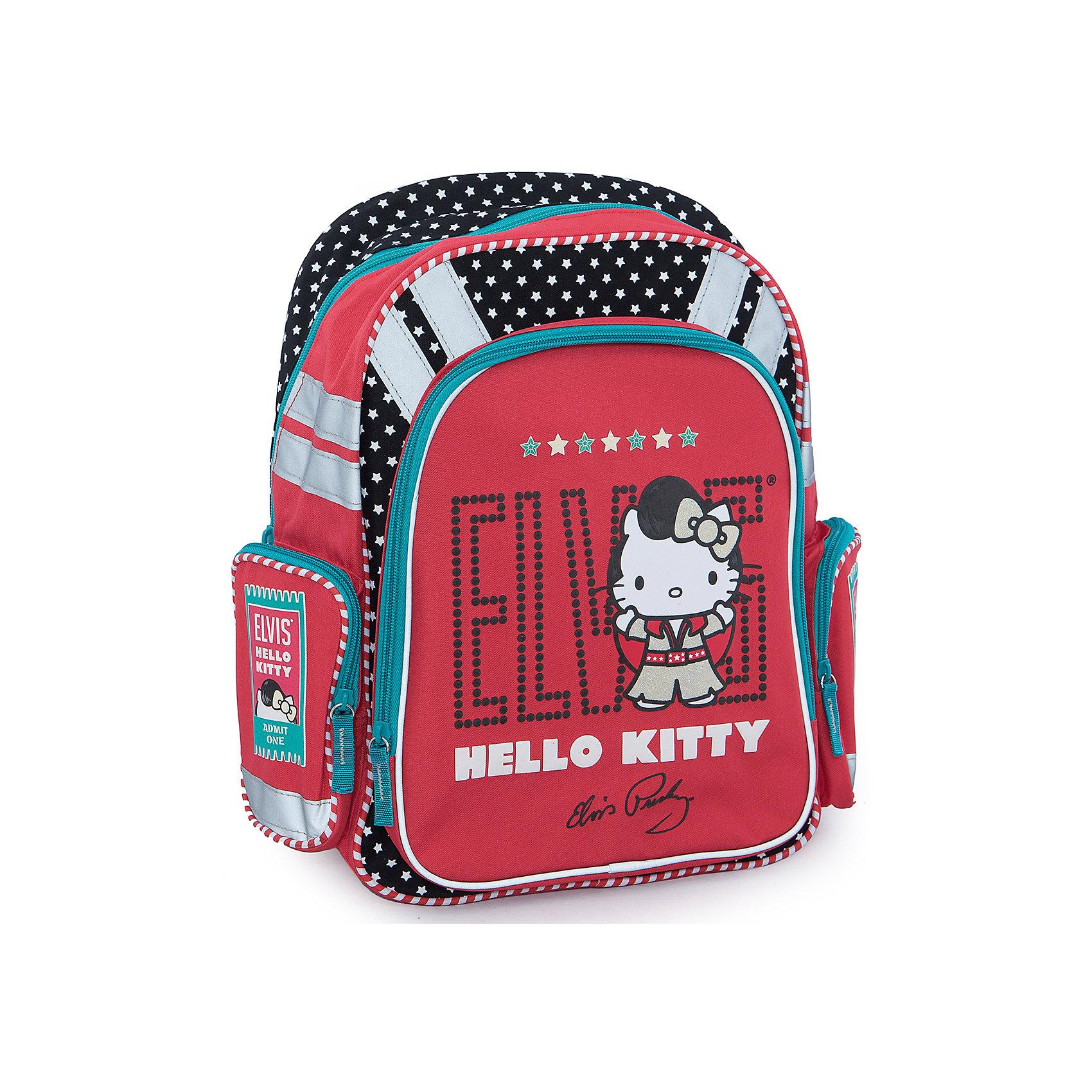 Ортопедический рюкзак с EVA-спинкой, Hello KittyОртопедический рюкзак Hello Kitty (Хелло Китти) эргономичной конструкции с EVA-спинкой идеальный рюкзак для школьных занятий. Благодаря использованию современного материала EVA, позвоночник ребенка не будет испытывать больших нагрузок во время эксплуатации рюкзака. Уплотненные боковинки рюкзака и дно помогают распределить вес всего рюкзака и сохранить его форму.<br><br>Рюкзак внутри разделен двумя вставками, имеются крепления для канцелярских принадлежностей и небольшой сетчатый карман. Широкие лямки рюкзака регулируются по росту и размеру ребенка, имеется удобная ручка для переноски. Сбоку расположены карман для мелочей и отделение для бутылочки с водой, на лицевой стороне имеется большой жесткий карман на молнии. Для безопасности ребенка предусмотрены светоотражающие элементы. Рюкзак оформлен в стиле бренда Hello Kitty, красного цвета с золотыми вставками, лицевая сторона украшена изображением знаменитой белой кошечки. <br><br>Дополнительная информация:<br><br>- Материал: полиэстер.<br>- Размер: 16 х 38 х 36 см.<br>- Вес:  0,77 кг.<br><br>Рюкзак ортопедический с EVA-спинкой Hello Kitty можно купить в нашем интернет-магазине.<br><br>Ширина мм: 380<br>Глубина мм: 290<br>Высота мм: 130<br>Вес г: 735<br>Возраст от месяцев: 96<br>Возраст до месяцев: 108<br>Пол: Женский<br>Возраст: Детский<br>SKU: 3563120