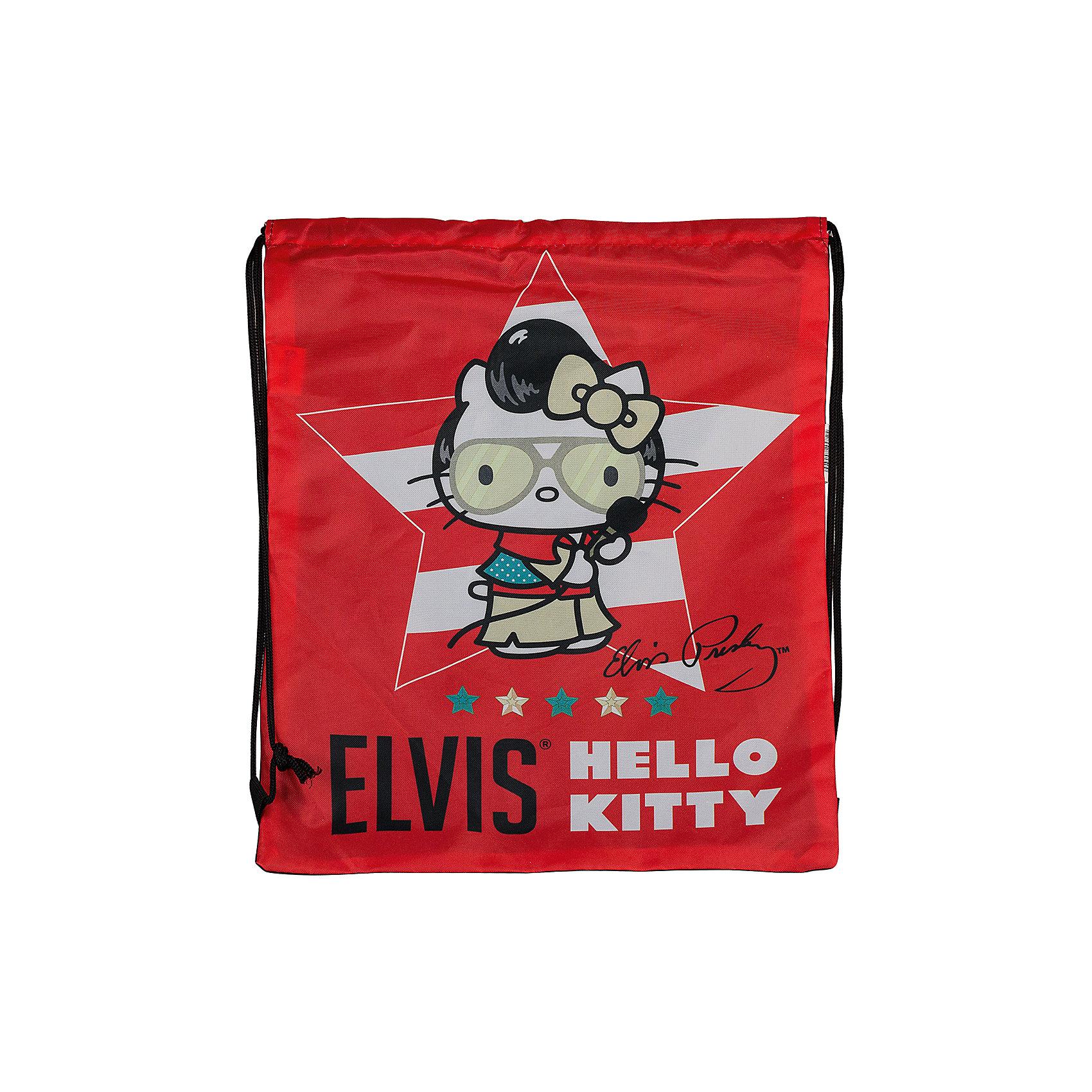 Сумка-рюкзак для обуви, Hello KittyСумка-рюкзак для обуви Hello Kitty Elvis (Хеллоу Китти Элвис) яркой красной расцветки идеально подойдет для сменной обуви маленькой школьницы и для физкультурной формы. <br><br>Рюкзачок выполнен из прочной непромокаемой ткани, по бокам затягивается специальными шнурками. Рюкзак оформлен в стиле бренда Hello Kitty серии Hello Kitty Elvis и украшен изображением знаменитой белой кошечки. <br><br>Дополнительная информация:<br><br>- Материал: полиэстер.<br>- Размер: 43 х 34 см.<br>- Вес: 60 гр.<br><br>Сумку-рюкзак для обуви Hello Kitty Elvis можно купить в нашем интернет-магазине.<br><br>Ширина мм: 20<br>Глубина мм: 400<br>Высота мм: 340<br>Вес г: 710<br>Возраст от месяцев: 36<br>Возраст до месяцев: 120<br>Пол: Женский<br>Возраст: Детский<br>SKU: 3563125