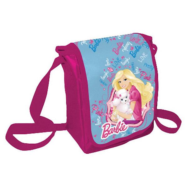 Сумка, BarbieДетские сумки<br>Сумка, Barbie (Барби) — удобная и яркая вещь. Эта сумка через плечо подойдет не только для школы, но и для повседневной жизни девочки. В нее с легкостью помещаются все необходимые вещи — сменная обувь, книжки или просто личные вещи, а носить ее очень удобно. На сумке ярко-розового цвета изображена любимица многих девочек Барби. Сумка застегивается на молнию, ремень-ручку можно регулировать по длине. Сумка выполнена из не маркого материала, который сохраняет первоначальный вид очень долгое время.<br><br>Яркий аксессуар, который непременно понравится поклонникам  Barbie!<br><br>Дополнительная информация:<br><br>- Материал: полиэстер<br>- Размер: 22 х 17 х 8 см<br>- Вес: 160 г.<br><br>Сумку, Barbie (Барби) можно купить в нашем интернет-магазине.<br>Ширина мм: 220; Глубина мм: 170; Высота мм: 80; Вес г: 160; Возраст от месяцев: 96; Возраст до месяцев: 108; Пол: Женский; Возраст: Детский; SKU: 3563132;