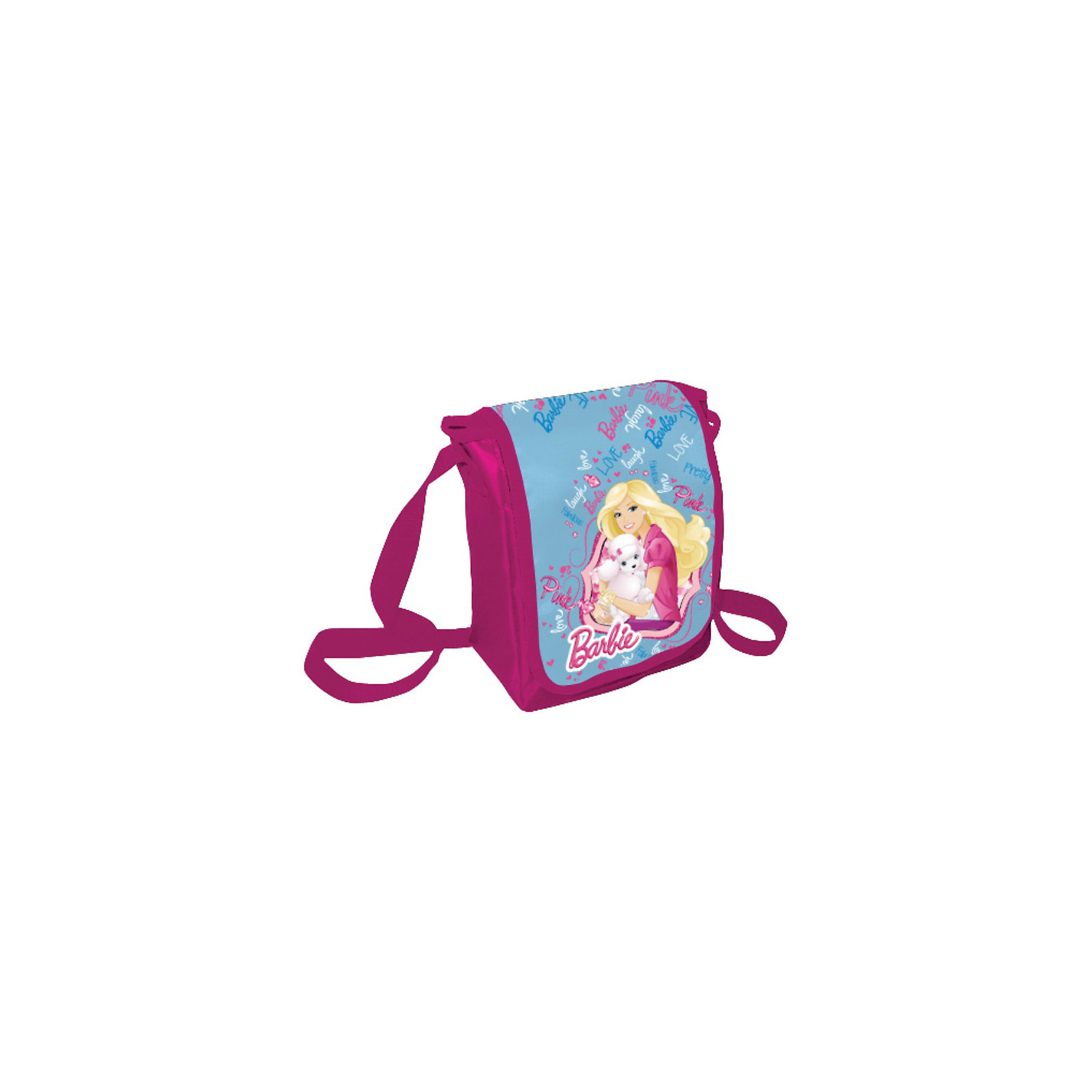Сумка, BarbieДетские сумки<br>Сумка, Barbie (Барби) — удобная и яркая вещь. Эта сумка через плечо подойдет не только для школы, но и для повседневной жизни девочки. В нее с легкостью помещаются все необходимые вещи — сменная обувь, книжки или просто личные вещи, а носить ее очень удобно. На сумке ярко-розового цвета изображена любимица многих девочек Барби. Сумка застегивается на молнию, ремень-ручку можно регулировать по длине. Сумка выполнена из не маркого материала, который сохраняет первоначальный вид очень долгое время.<br><br>Яркий аксессуар, который непременно понравится поклонникам  Barbie!<br><br>Дополнительная информация:<br><br>- Материал: полиэстер<br>- Размер: 22 х 17 х 8 см<br>- Вес: 160 г.<br><br>Сумку, Barbie (Барби) можно купить в нашем интернет-магазине.<br><br>Ширина мм: 220<br>Глубина мм: 170<br>Высота мм: 80<br>Вес г: 160<br>Возраст от месяцев: 96<br>Возраст до месяцев: 108<br>Пол: Женский<br>Возраст: Детский<br>SKU: 3563132