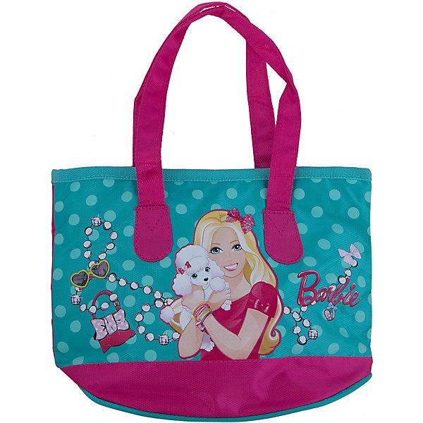 Сумка, BarbieДетские сумки<br>Стильная и практичная сумка Барби (Barbie) идеально подойдет как для дошкольниц, так и для девочек постарше, с ней удобно путешествовать и отправляться на длительные прогулки. В симпатичную сумку можно положить все самое необходимое, а носить ее очень удобно. Сумка оснащена плечевым регулируемым ремешком, имеется боковой карман на молнии  Сумка выполнена в нежной бирюзово-розовой расцветке с изображением куколки Барби.<br><br>Дополнительная информация:<br><br>- Материал: полиэстер.<br>- Размер: 21 х 27 х 10 см.<br><br>Сумку Barbie можно купить в нашем интернет-магазине.<br><br>Ширина мм: 210<br>Глубина мм: 270<br>Высота мм: 100<br>Вес г: 500<br>Возраст от месяцев: 96<br>Возраст до месяцев: 108<br>Пол: Женский<br>Возраст: Детский<br>SKU: 3563134