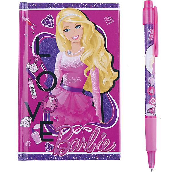 Набор канцелярский в подарочной коробке, BarbieНаборы канцелярии<br>Набор канцелярский в подарочной коробке, Barbie (Барби). <br><br>В набор входит блокнот и ручка с изображением любимицей девочек — куклой Барби.<br><br>Стильный набор, который обязательно понравится поклонницам Barbie!<br><br>Дополнительная информация:<br><br>- Размер упаковки: 13 х 16 х 2 см<br><br>Набор канцелярский в подарочной коробке, Barbie (Барби) можно купить в нашем интернет-магазине.<br><br>Ширина мм: 130<br>Глубина мм: 160<br>Высота мм: 20<br>Вес г: 500<br>Возраст от месяцев: 96<br>Возраст до месяцев: 108<br>Пол: Женский<br>Возраст: Детский<br>SKU: 3563136