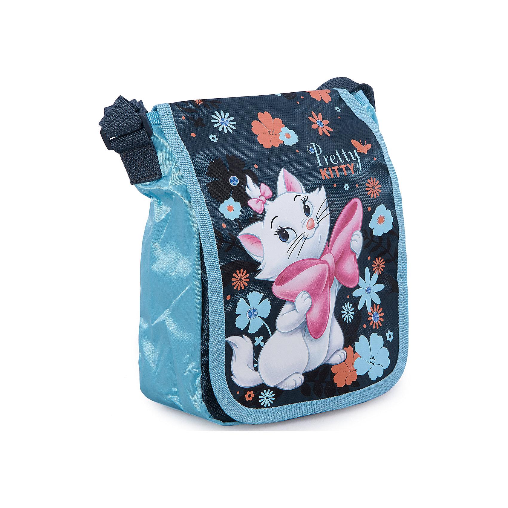 Сумка Кошка Мари, Коты-АристократыСумка Marie Cat (кошка Мари) нежной сине-голубой расцветки идеально подойдет как для дошкольниц, так и для девочек постарше, с ней удобно путешествовать и отправляться на длительные прогулки. В симпатичную сумку можно положить все самое необходимое, а носить ее очень удобно. Сумка оснащена плечевым регулируемым ремешком, имеется задний карман на молнии. Лицевая сторона украшена изображением очаровательной белой кошечки Мери, героини диснеевского мультфильма  Коты Аристократы.<br><br>Дополнительная информация:<br><br>- Материал: полиэстер.<br>- Размер: 22 х 17 х 8 см.<br>- Вес: 0,16 кг.<br><br>Сумку Marie Cat можно купить в нашем интернет-магазине.<br><br>Ширина мм: 120<br>Глубина мм: 170<br>Высота мм: 50<br>Вес г: 160<br>Возраст от месяцев: 96<br>Возраст до месяцев: 108<br>Пол: Женский<br>Возраст: Детский<br>SKU: 3563139