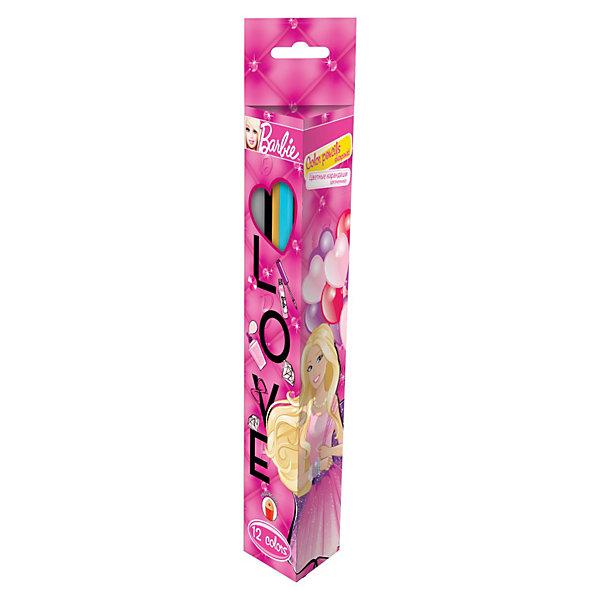 Цветные карандаши (треугольные), 12 шт, BarbieЦветные<br>Цветные карандаши (треугольные), 12 шт, Barbie (Барби) изготовлены из высококачественной древесины. Карандаши имеют не совсем привычный треугольный профиль и упакованы в коробку из мелованного картона с картинкой в стиле Барби.<br><br>Рисование способствует развитию мелкой моторики рук, внимания, творческих и художественных способностей ребенка. <br><br>Подарите Вашему ребенку праздник творчества!<br><br>Дополнительная информация:<br><br>- Размер упаковки: 21,5 х 4,5 х 2,5 см<br>- Вес: 150 г.<br><br>Цветные карандаши (треугольные), 12 шт, Barbie (Барби) можно купить в нашем интернет-магазине.<br>Ширина мм: 215; Глубина мм: 45; Высота мм: 25; Вес г: 150; Возраст от месяцев: 96; Возраст до месяцев: 108; Пол: Женский; Возраст: Детский; SKU: 3563152;